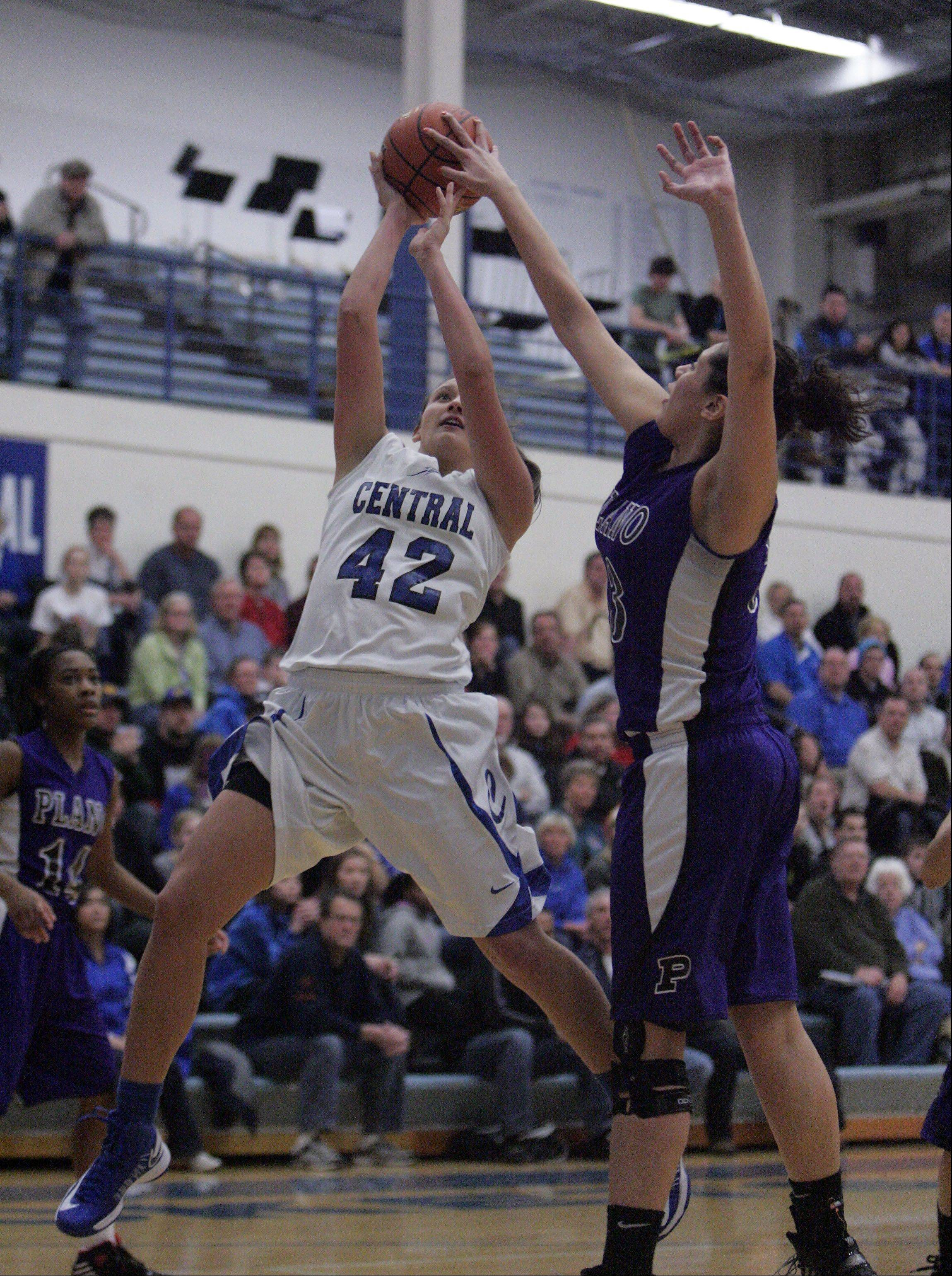 Images from the Burlington Central vs. Plano girls basketball game Friday, February 15, 2013.