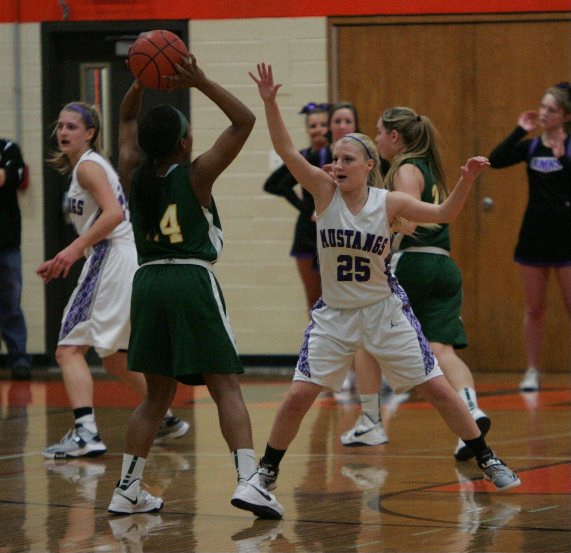The girls basketball game between Rolling Meadows and Stevenson in the Class 4A sectional semifinals at Libertyville High School Monday.