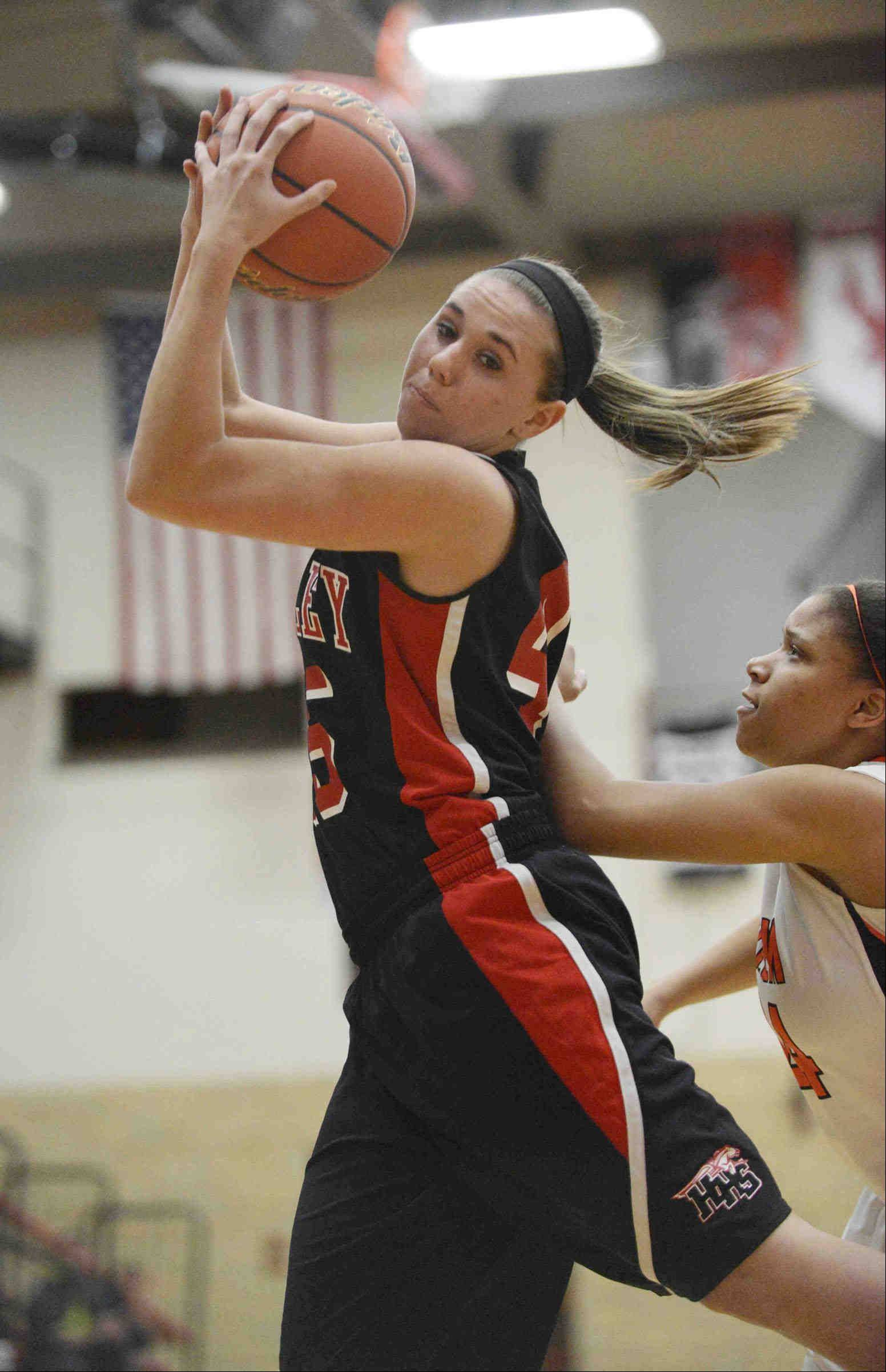 Images from the Huntley vs. Harlem girls Class 4A sectional basketball game in Tuesday, February 19, 2013 in Rockford.