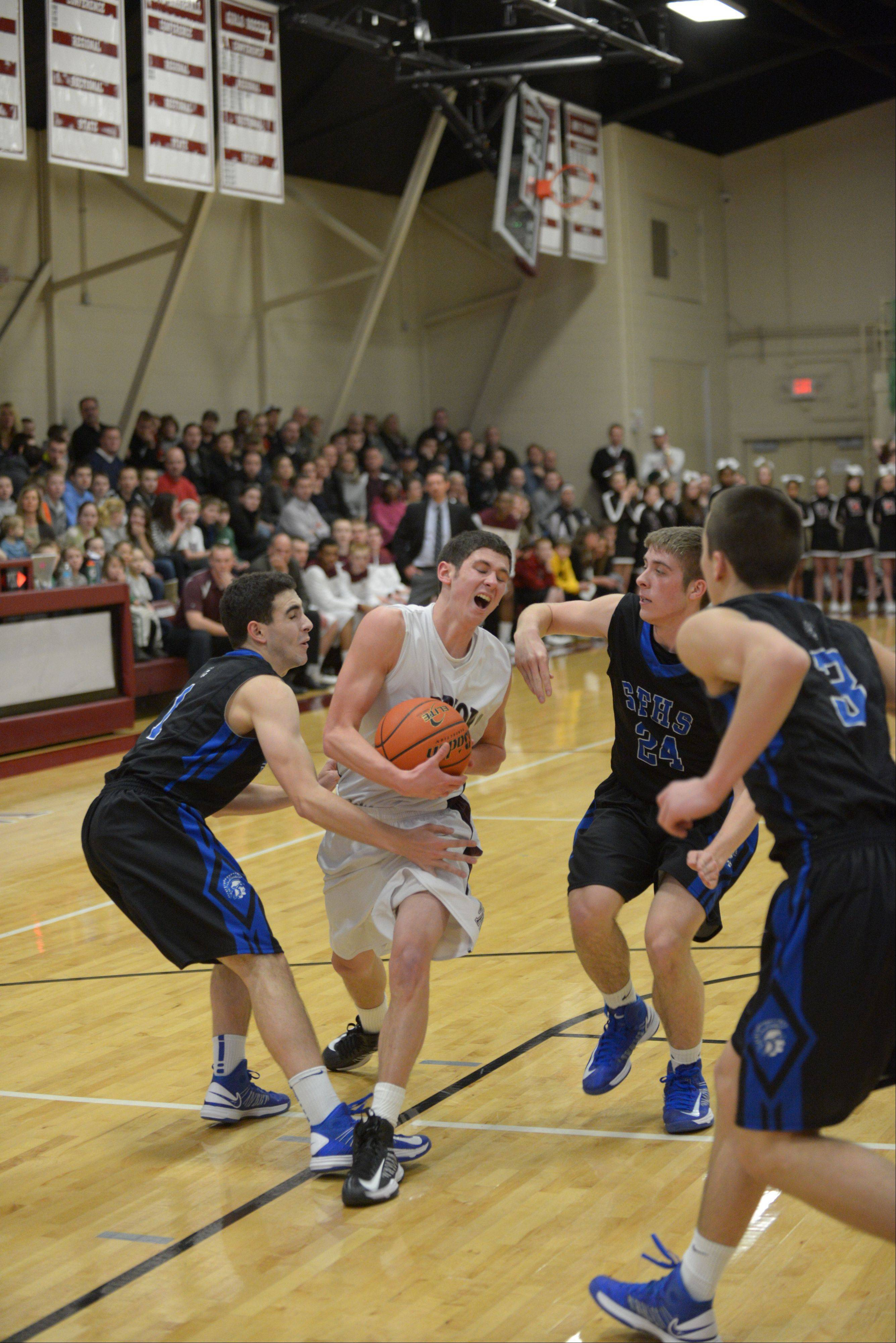 Wheaton Academy hosted St. Francis Wednesday night in West Chicago for boys basketball.