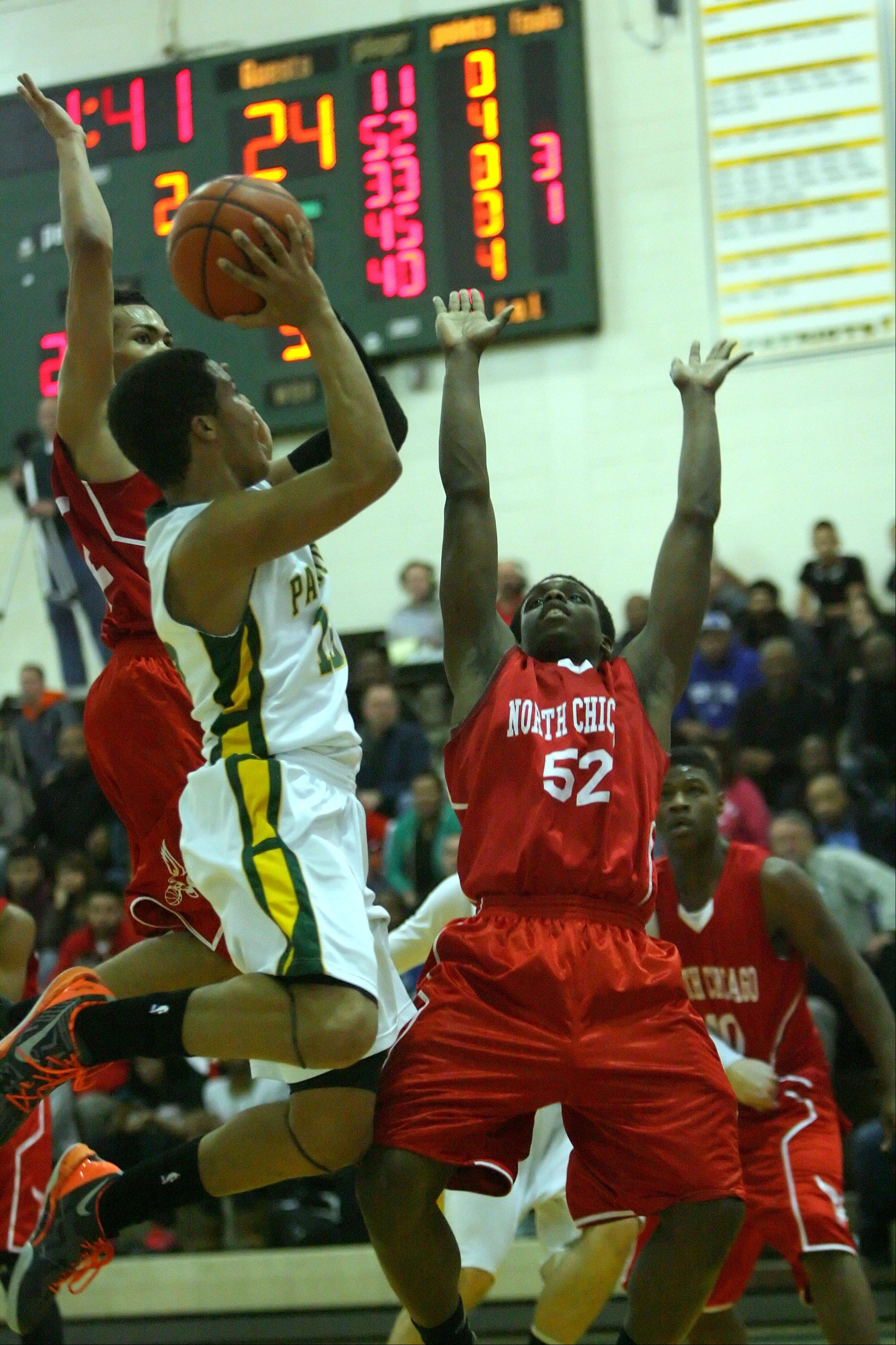 Images from the North Chicago vs. Stevenson boys basketball game on Wednesday, Feb. 20 in Lincolnshire..
