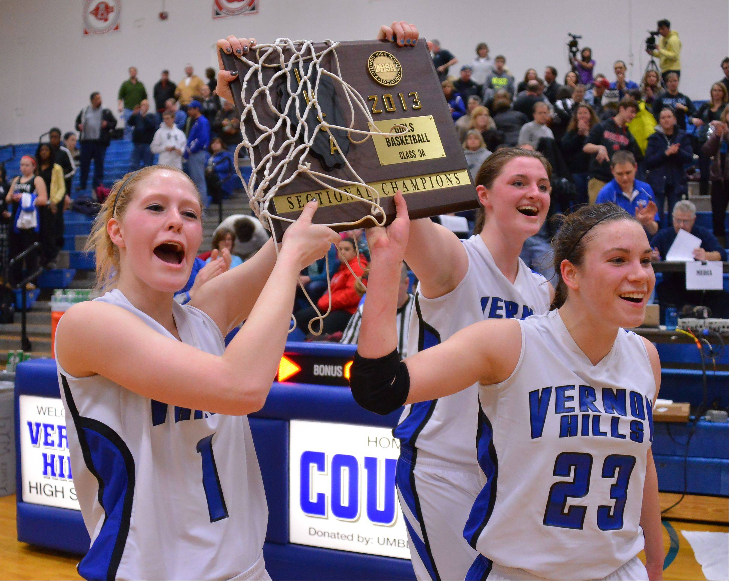 Images from the Vernon Hills vs. Regina Dominican Class 3A girls basketball sectional final on Thursday, Feb. 21 in Vernon Hills.
