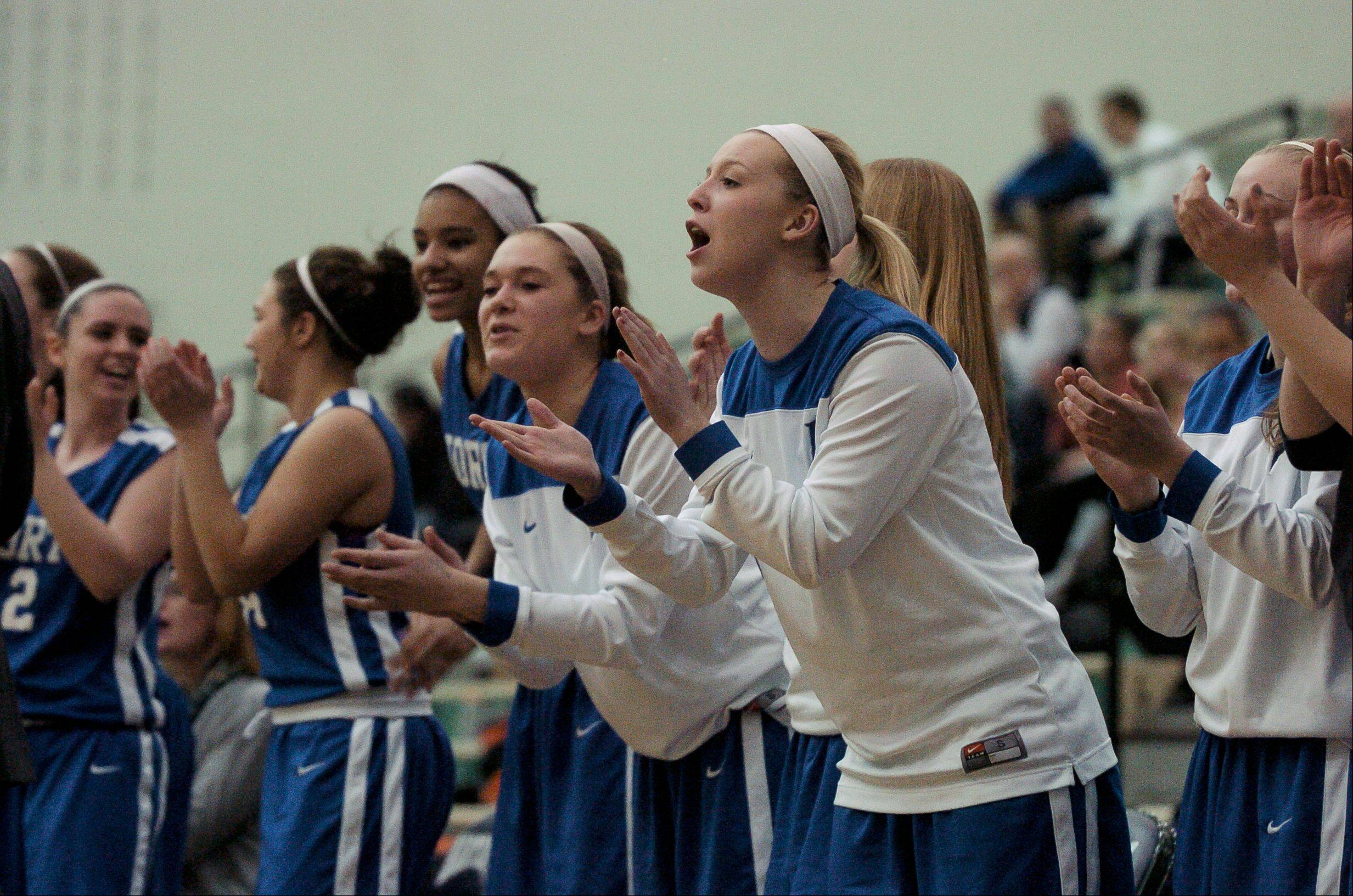 Wheaton North played Wheaton Warrenville South Thursday night in the Class 4A girls basketball sectional final at Bartlett High School.