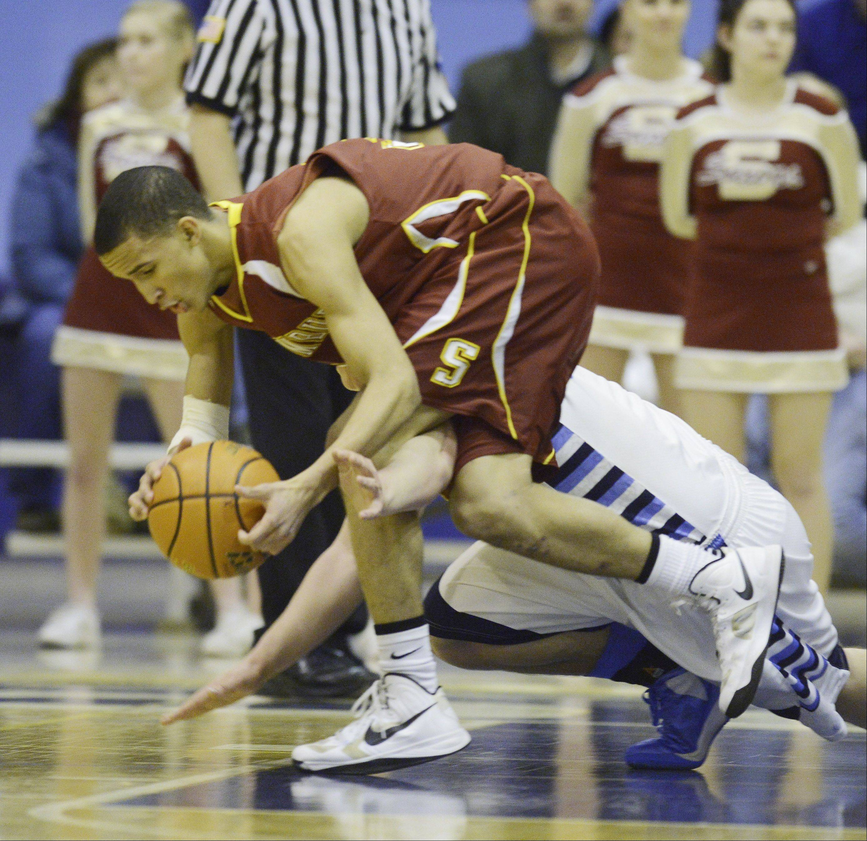 Images from the Schaumburg vs. Prospect boys basketball MSL title game Wednesday, February 20th, in Mount Prospect