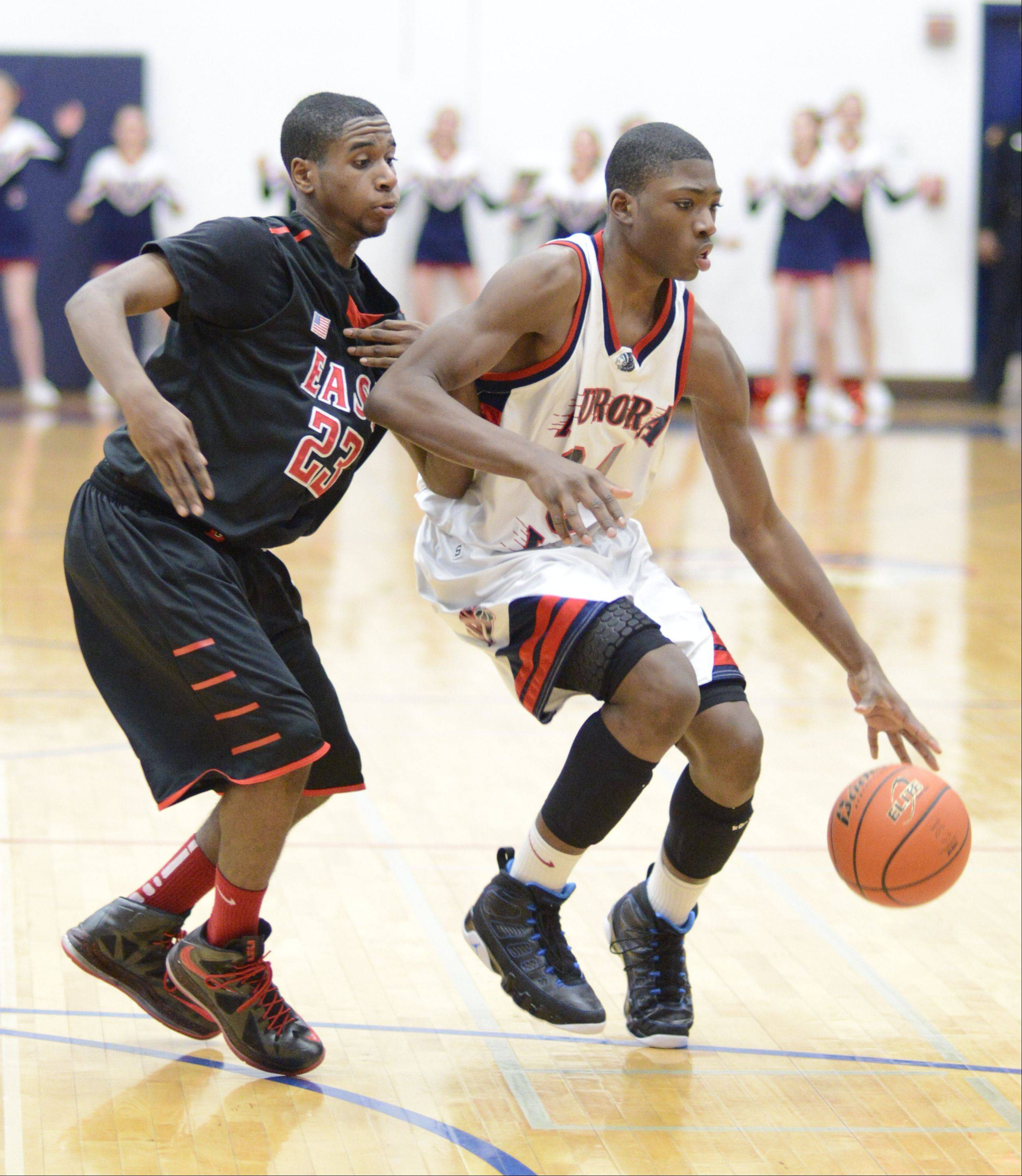 Images from the Glenbard East vs. West Aurora basketball game on Wednesday, February 20, 2013.