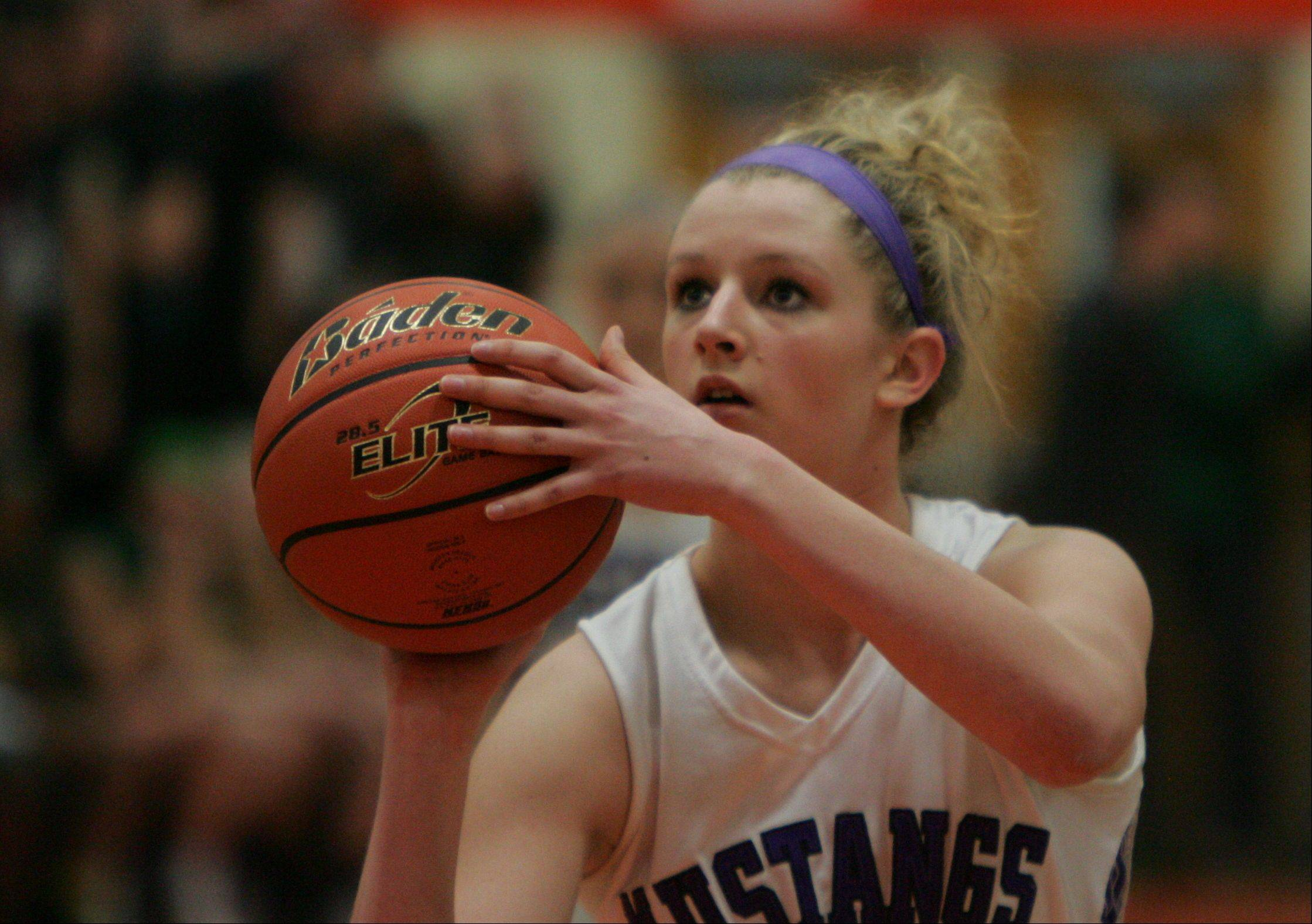 Images from the Rolling Meadows vs. Fremd Class 4A girls basketball sectional final on Thursday, Feb. 21 in Libertyville. Rolling Meadows won the game 59 - 50.