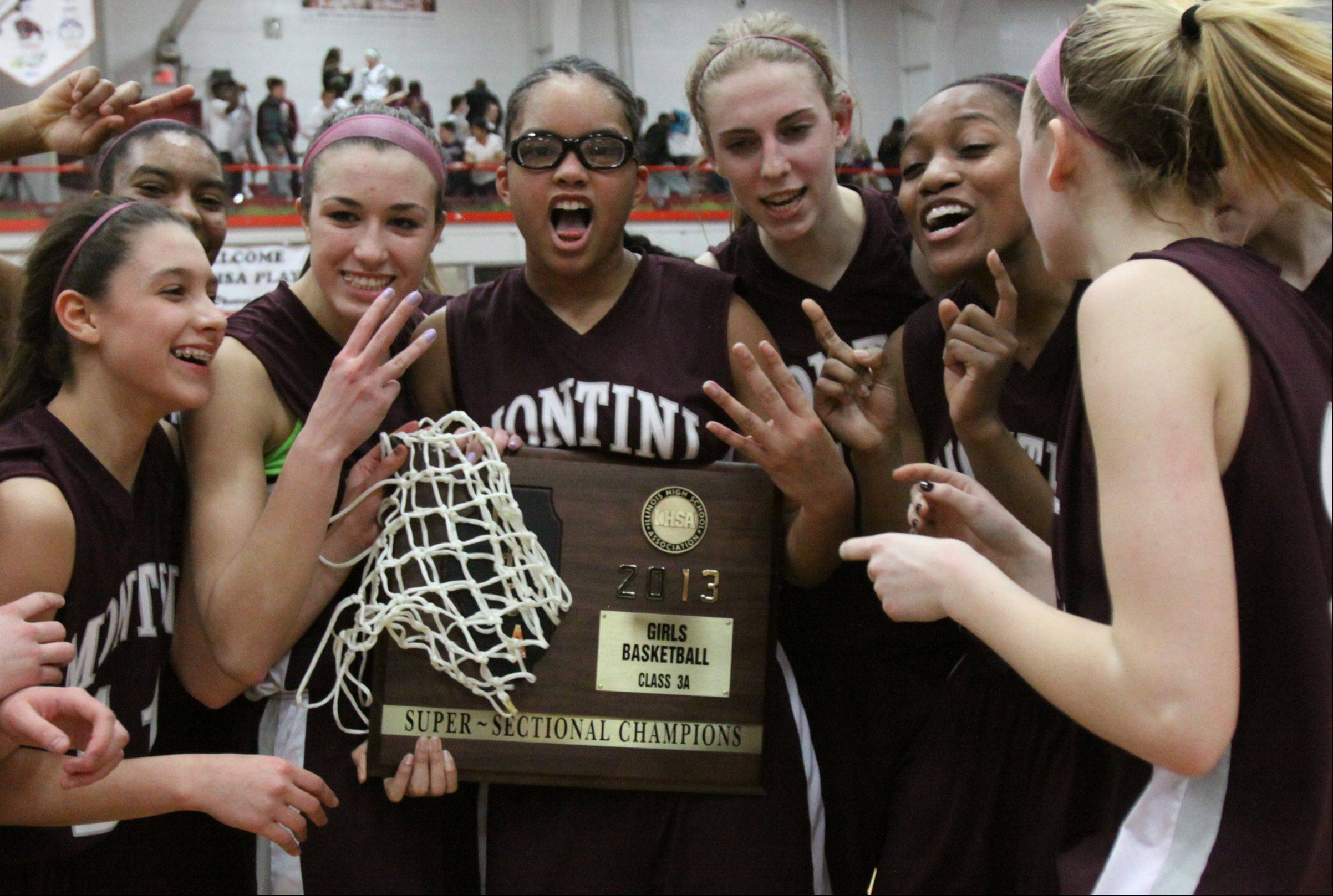 Montini plays Phillips Monday night in Class 3A girls basketball supersectional action at Hinsdale Central High School.