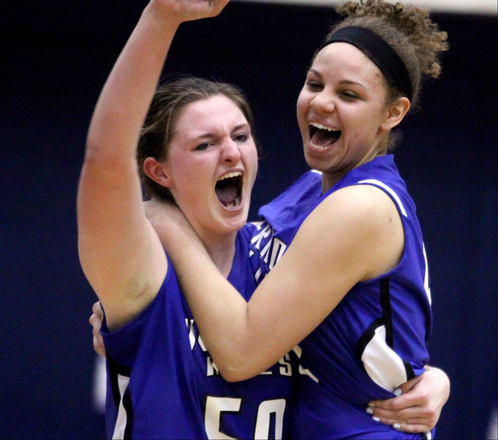 Images from the Burlington Central vs. Vernon Hills girls supersectional basketball game on Monday, February 25th, in Hoffman Estates.