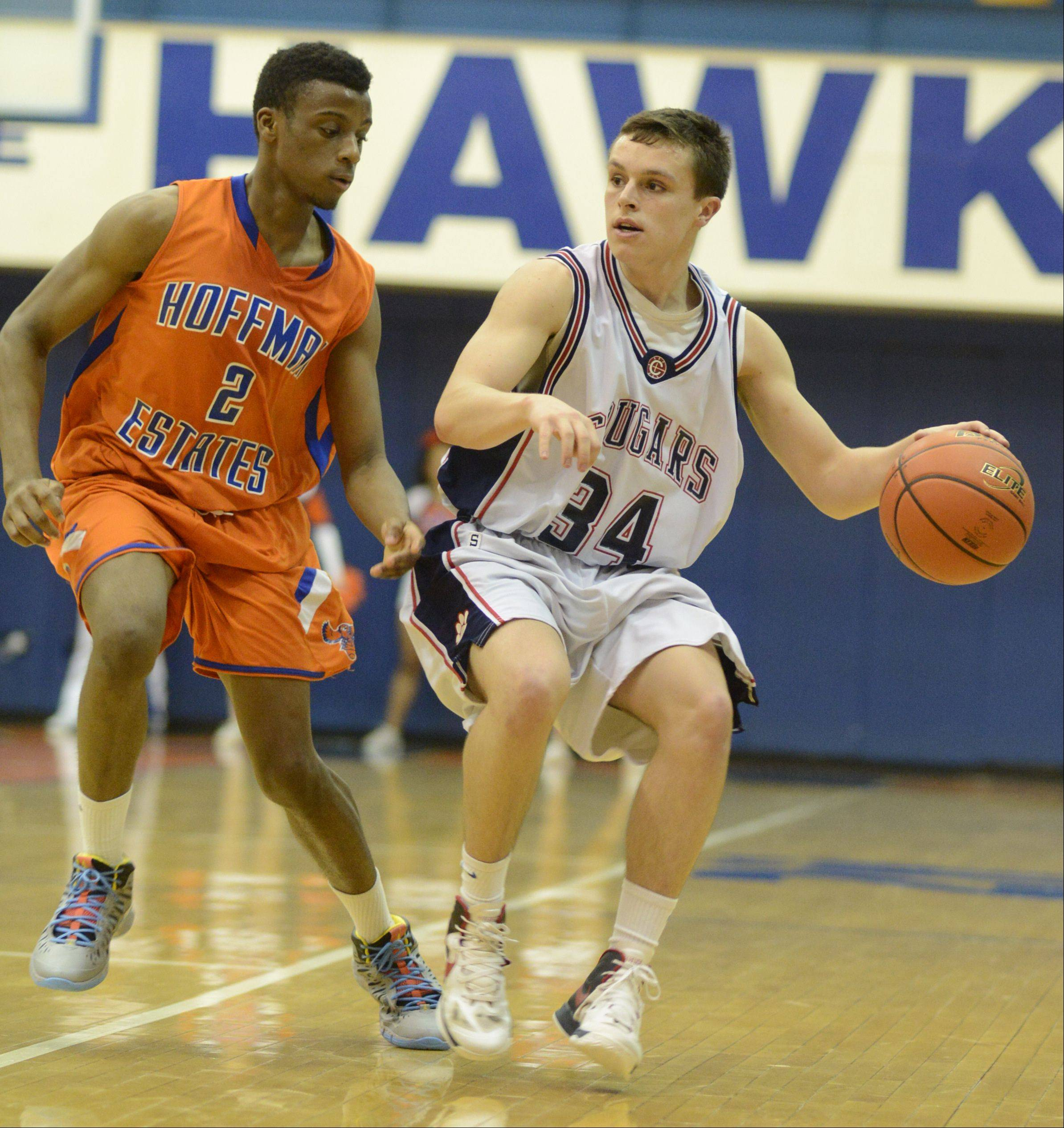 Images from the Conant vs. Hoffman Estates boys basketball game on Wednesday, February 27th, at Hoffman Estates High School.