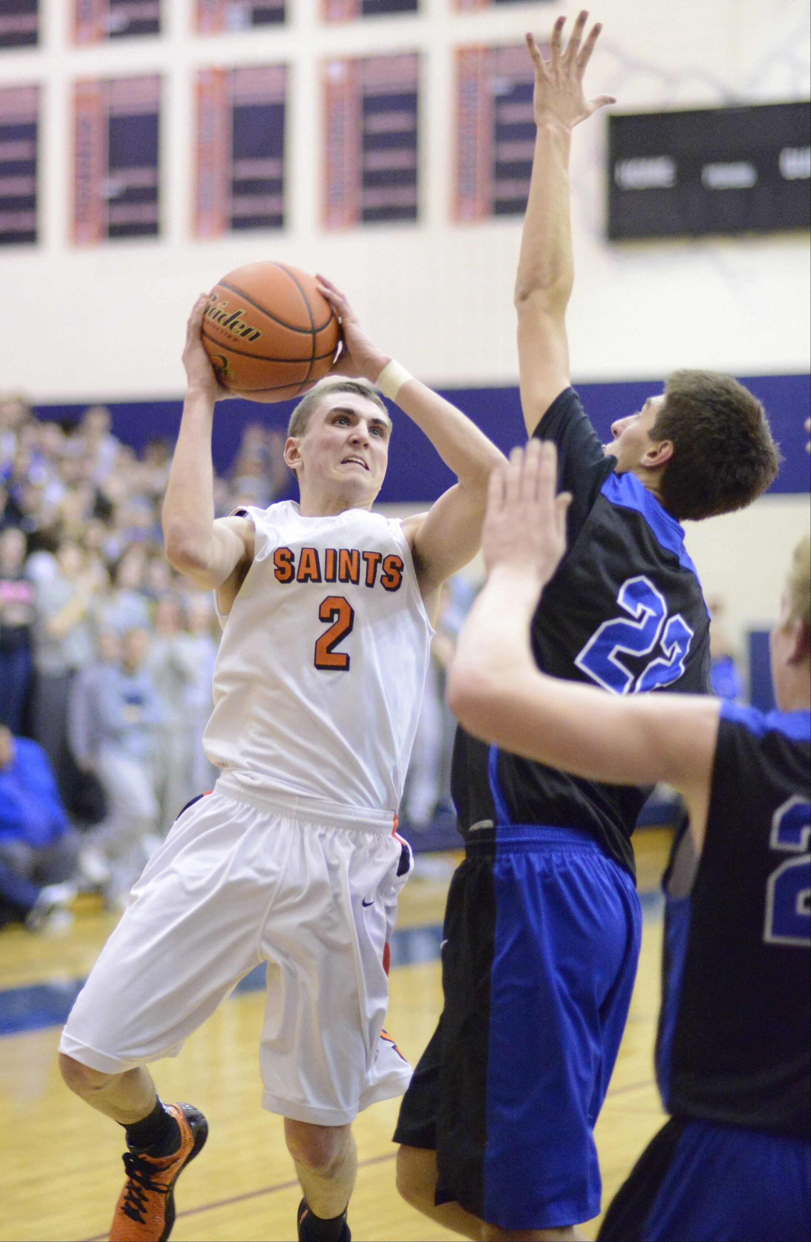 Images from the St. Charles East vs. St. Charles North Class 4A regional boys basketball game Wednesday, February 27, 2013.
