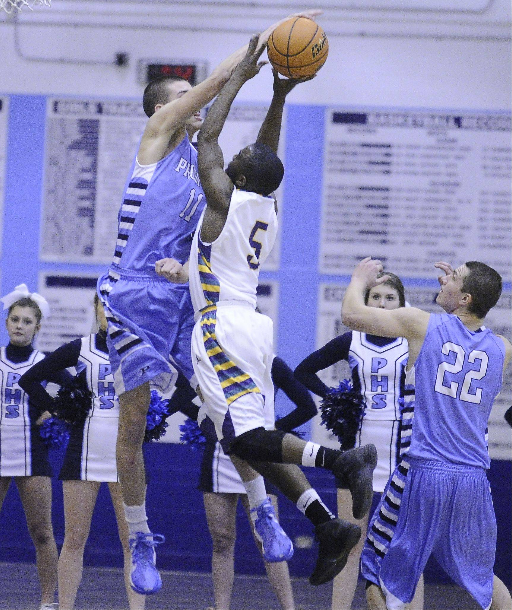 Images from the Prospect vs. Waukegan boys basketball game on Thursday, February 28th, in Mount Prospect.