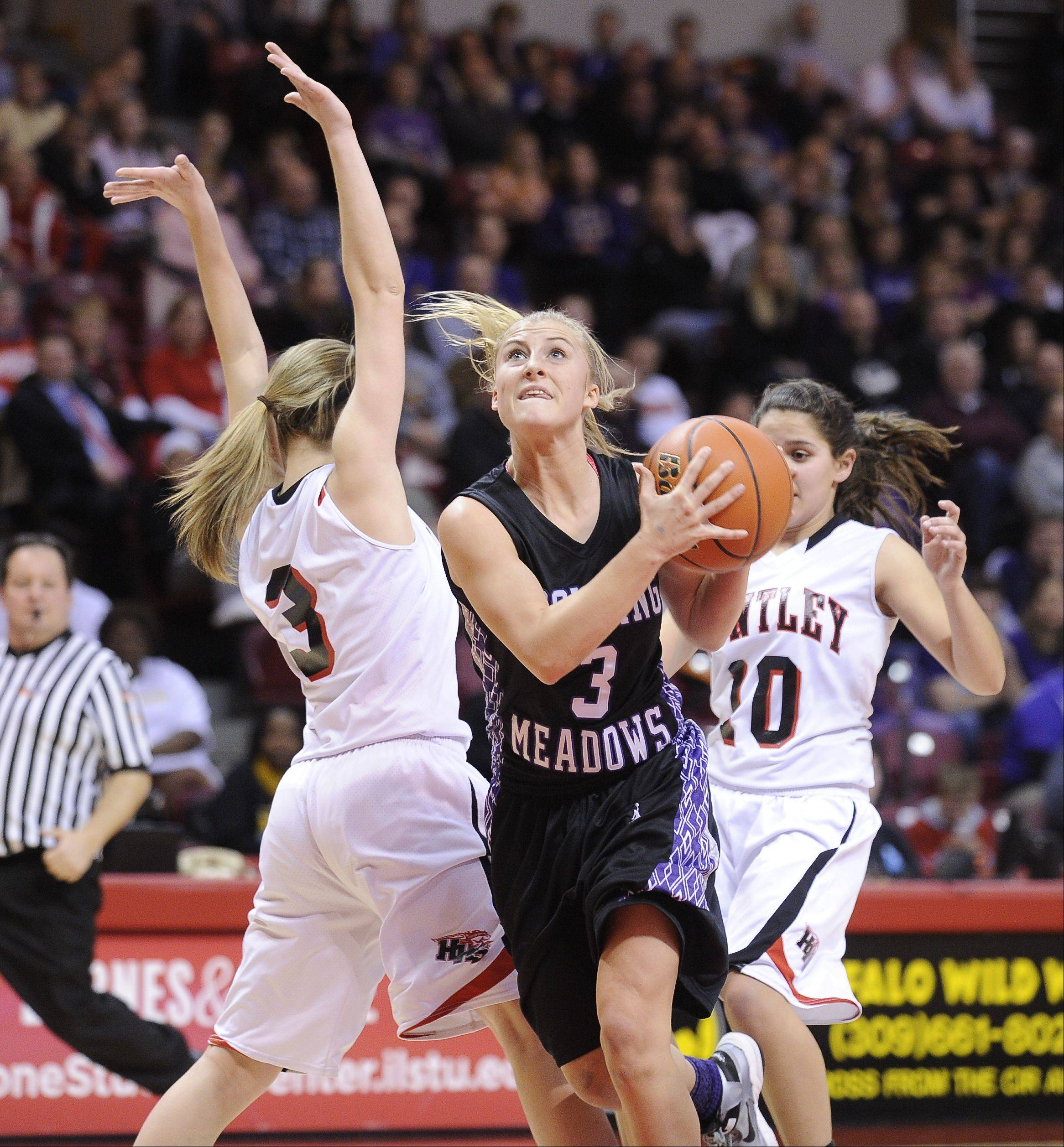 Images from the Huntley vs. Rolling Meadows IHSA Class 4A girls state basketball semifinal on Friday, Mar. 1 at Redbird Arena in Normal.