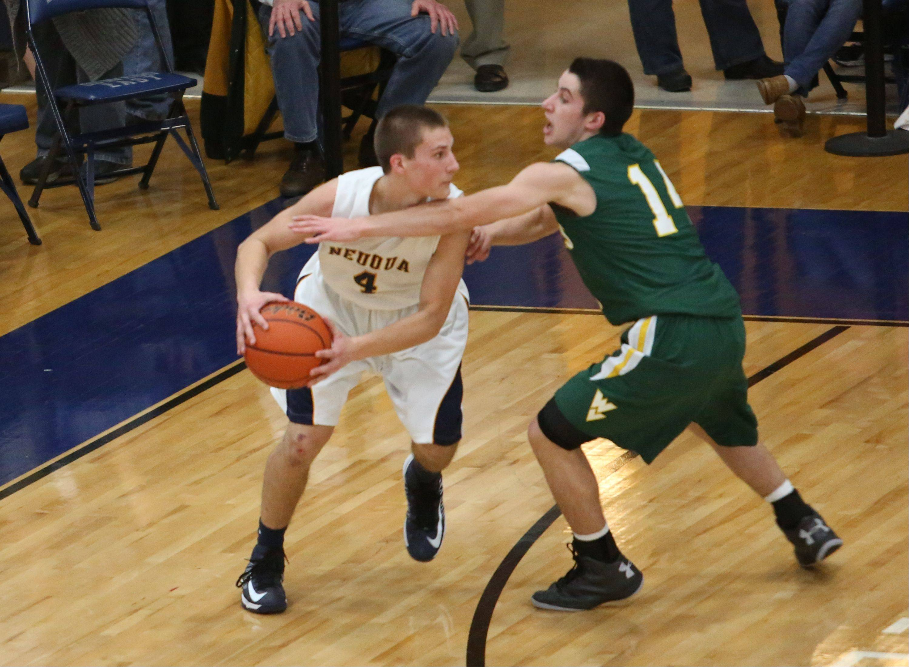 Neuqua Valley played Waubonsie Valley Friday night in Class 4A boys basketball Oswego East regional final action.