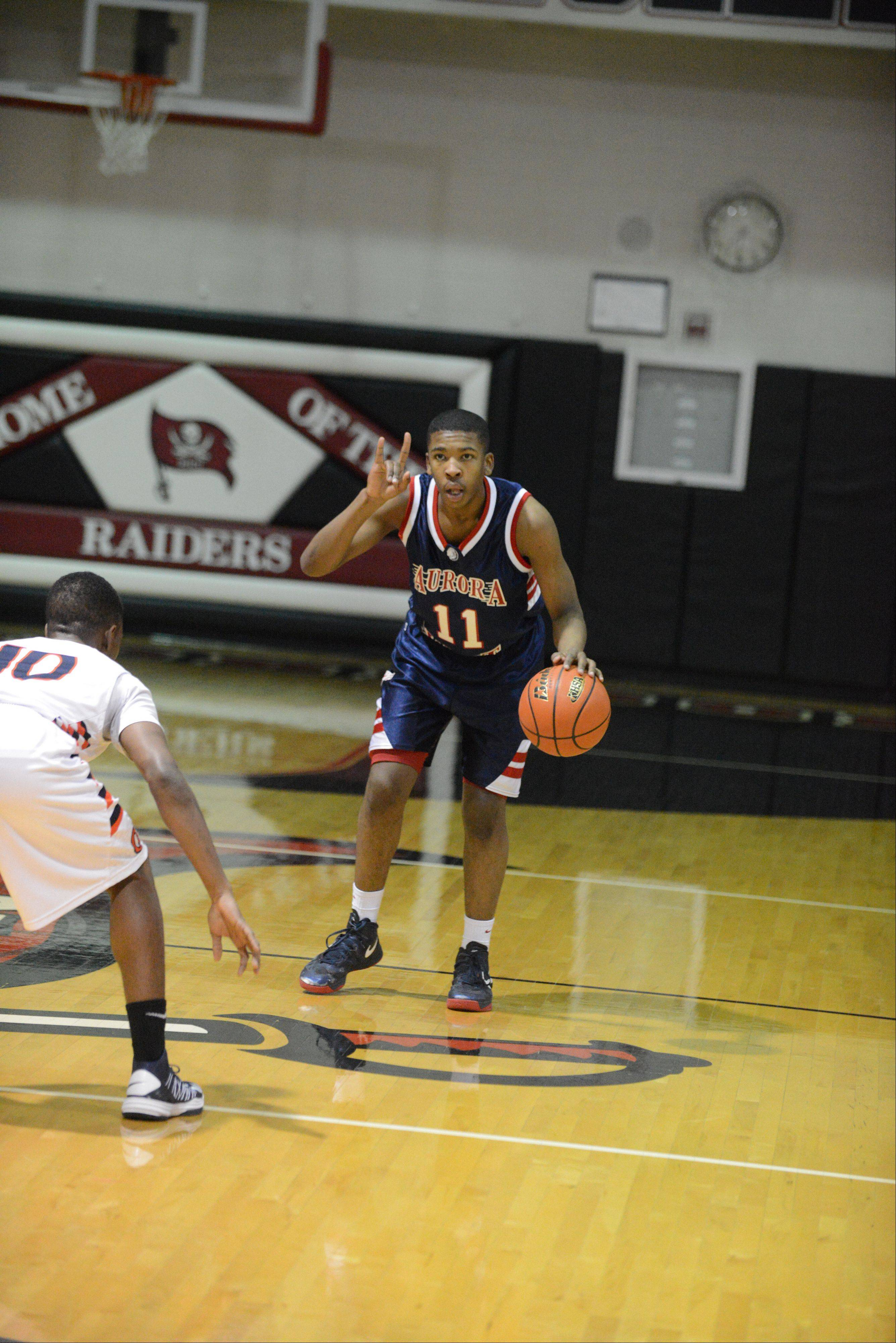 West Aurora played Oswego Wednesday night for boys basketball sectional semifinals.