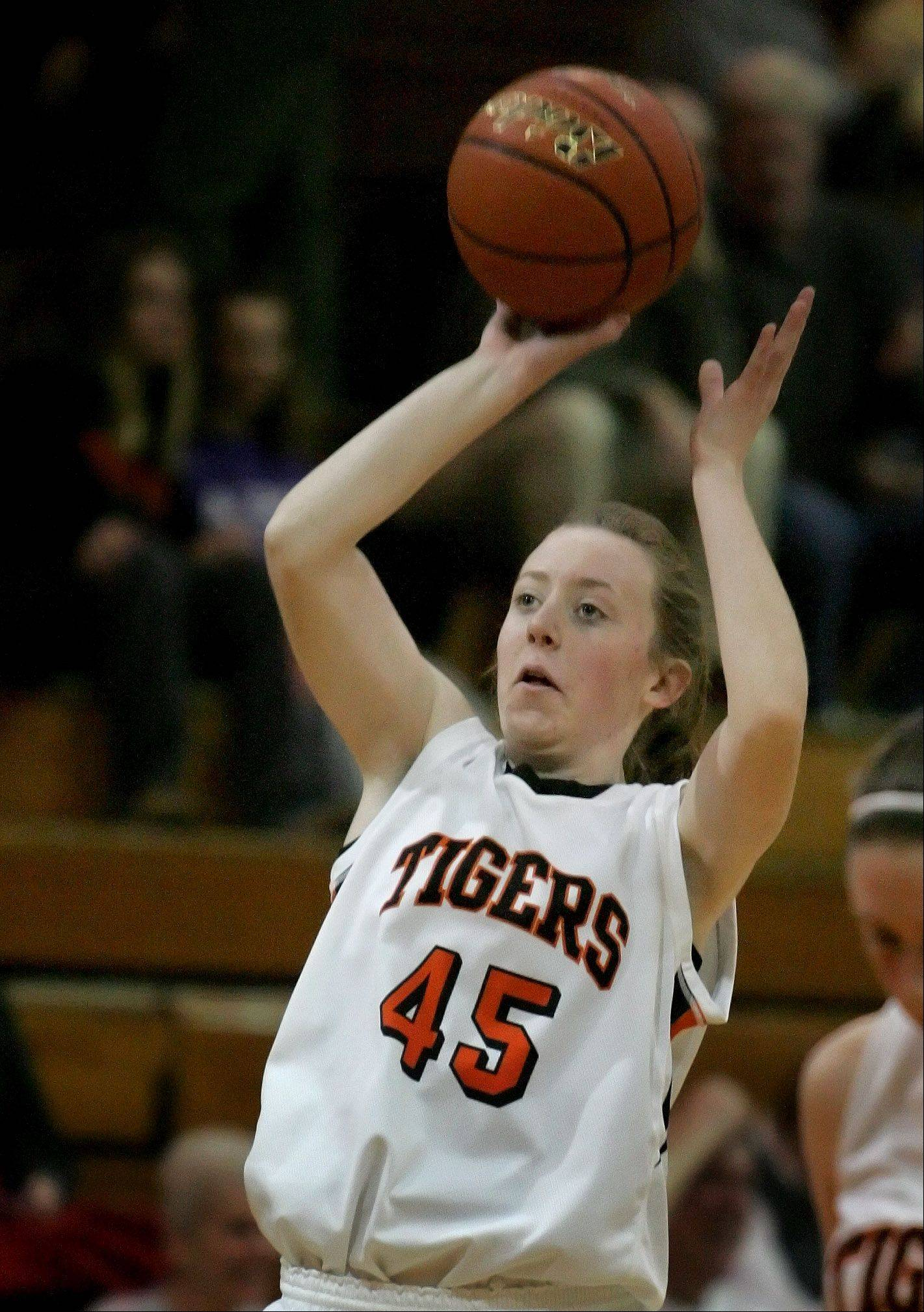 Meghan Waldron of Wheaton Warrenville South.