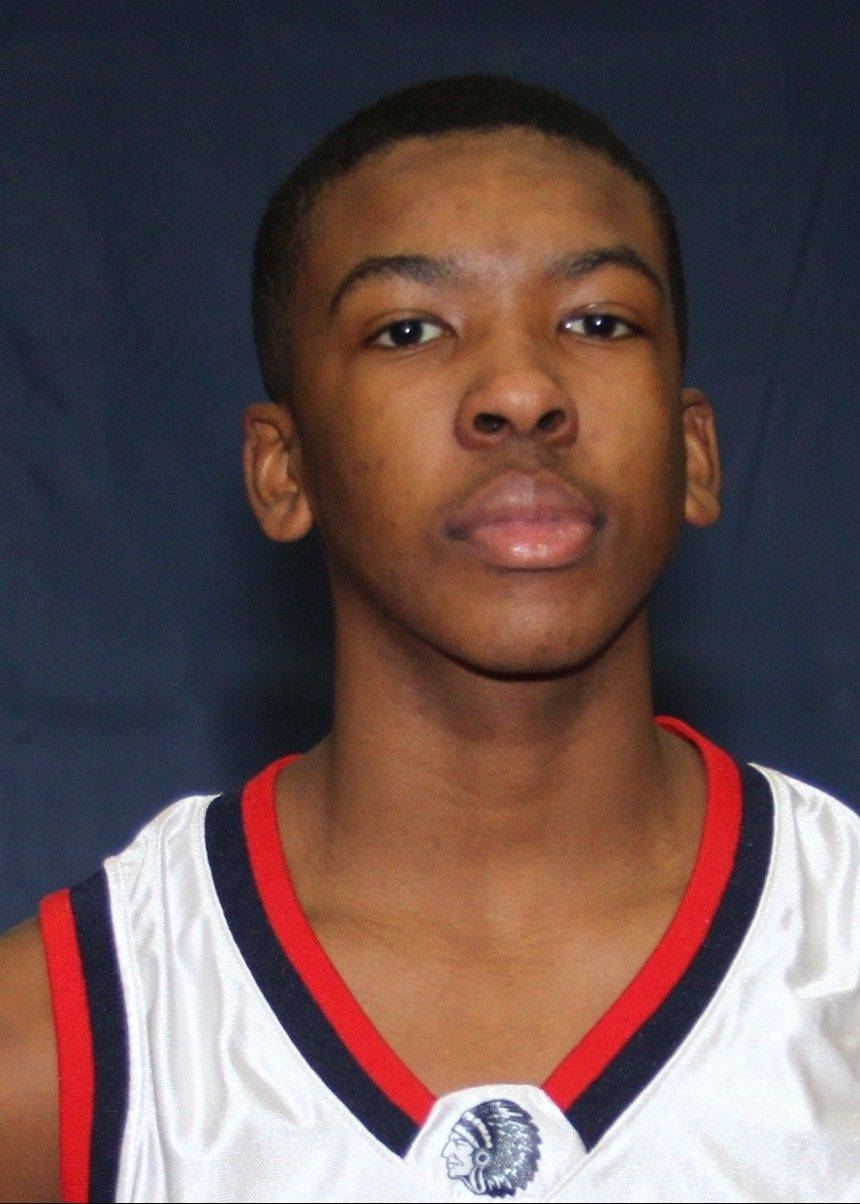 West Aurora basketball player Jontrel Walker