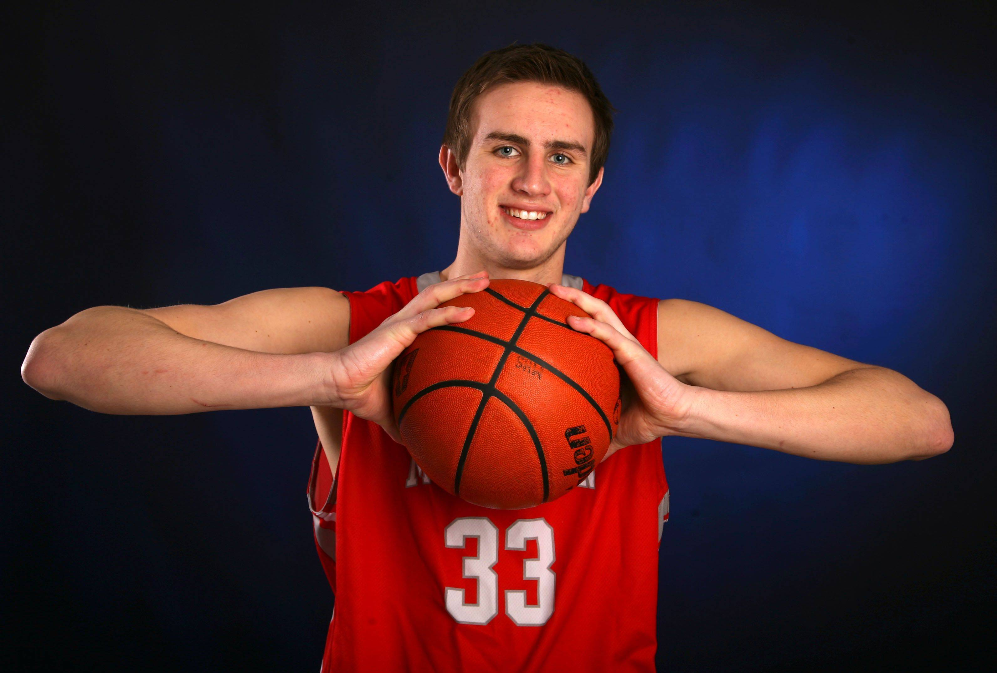 After leading Mundelein to a third straight regional title, Sean O'Brien has a bright basketball future awaiting him at Southern Illinois.