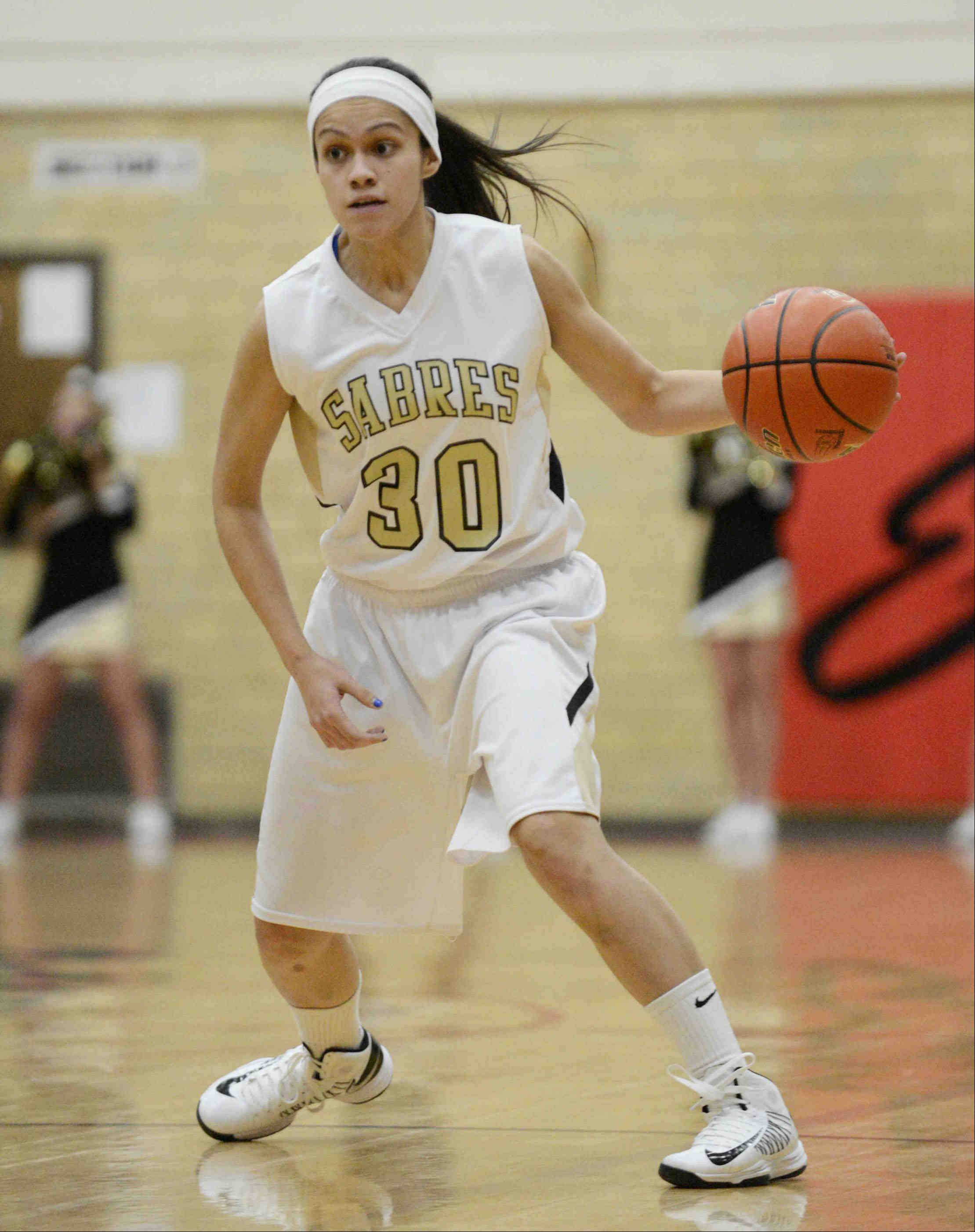 Streamwood senior Jessica Cerda is the honorary co-captain of the 2012-13 Daily Herald Fox Valley all-area girls basketball team.