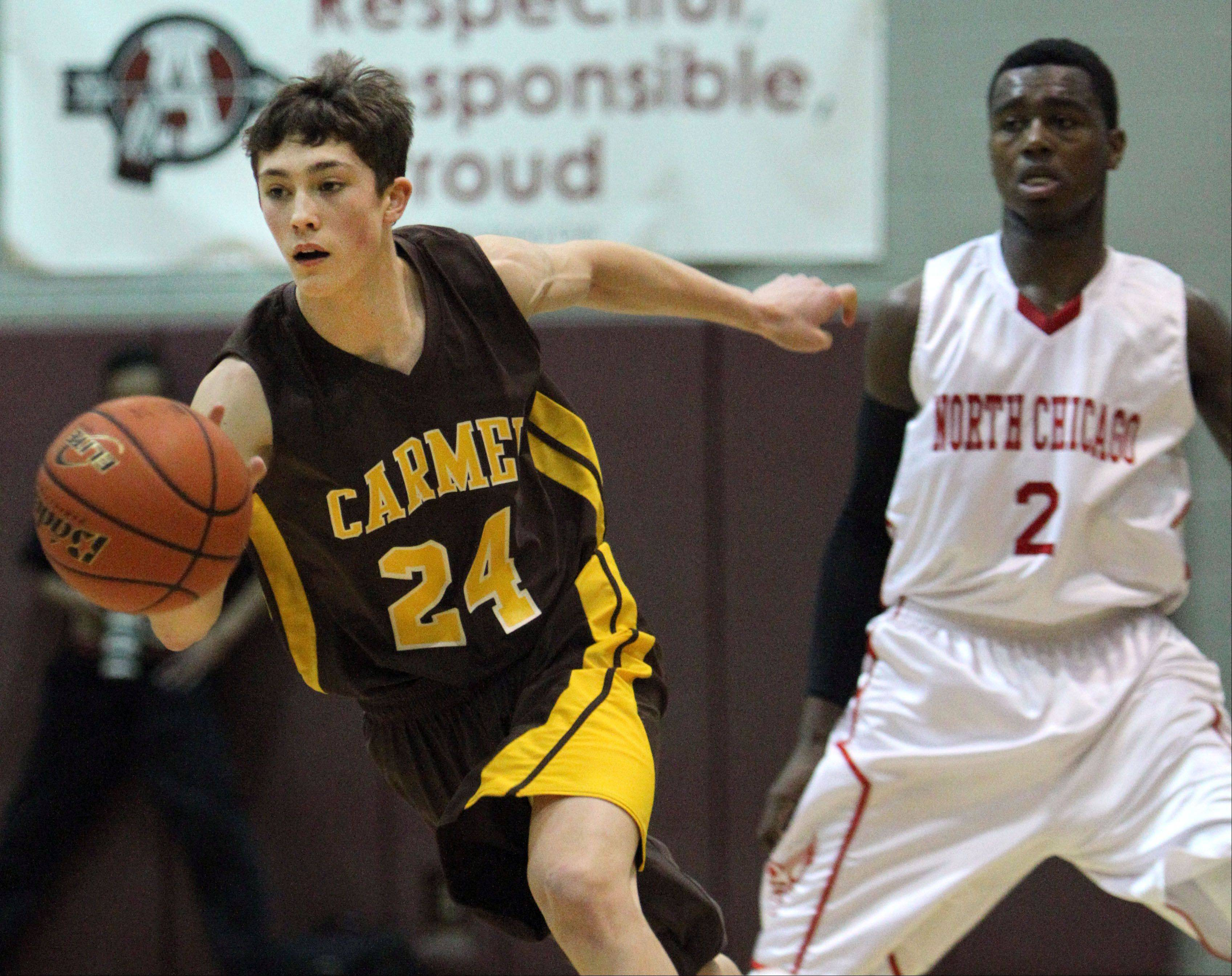 Images: Carmel vs. North Chicago, boys basketball