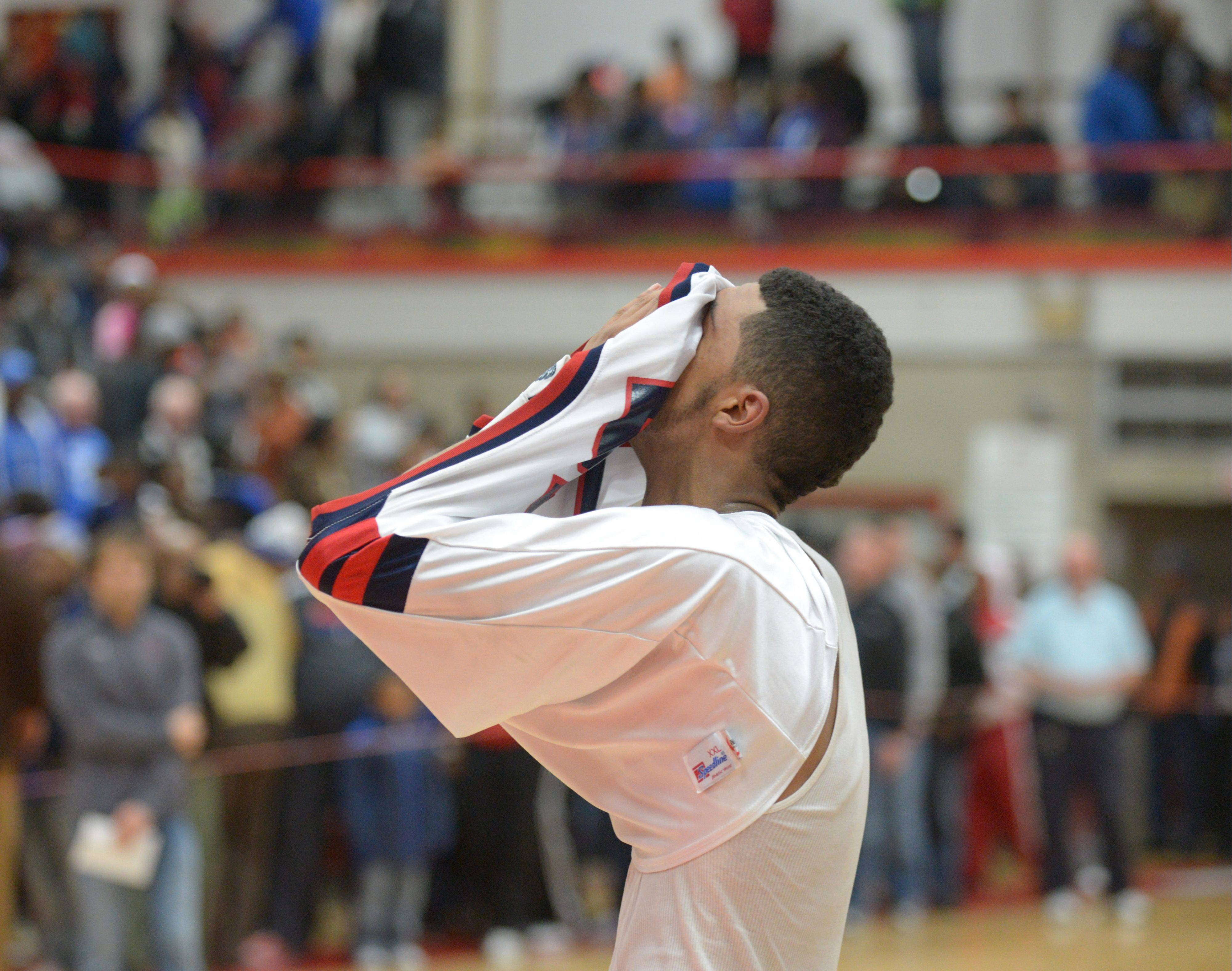 West Aurora's Josh McAuley reacts to the Blackhawks' loss to Proviso East in the Class 4A Hinsdale Central supersectional Tuesday.