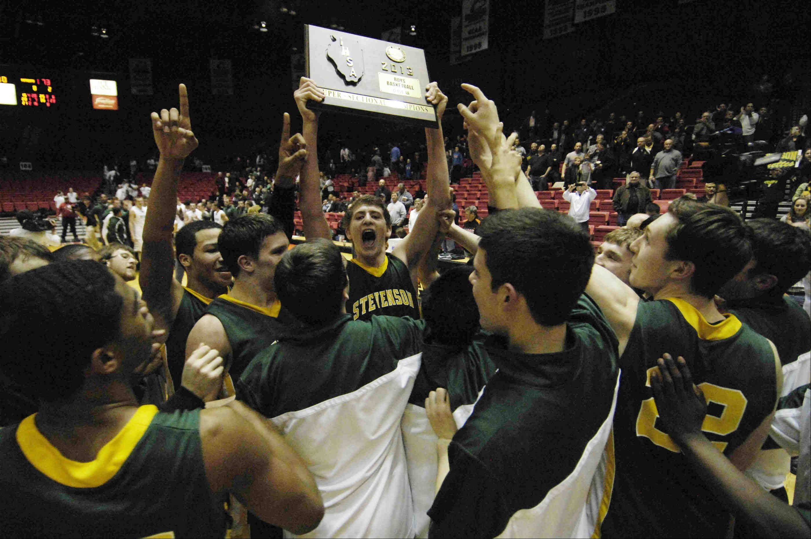Images from the Stevenson vs. Rockford Boylan Class 4A boys basketball NIU supersectional game at the Convocation Center on Tuesday, March 12 in DeKalb.