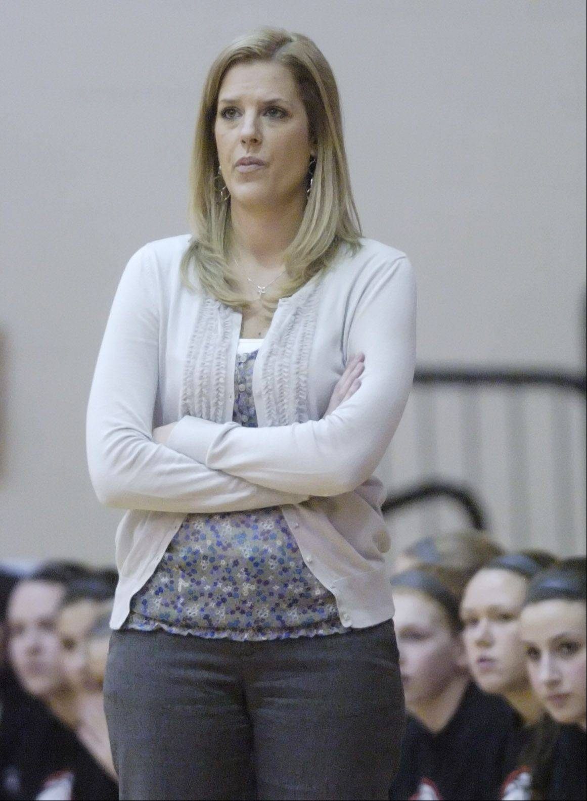 Leslie Schock stepped down as Palatine girls basketball coach Tuesday.