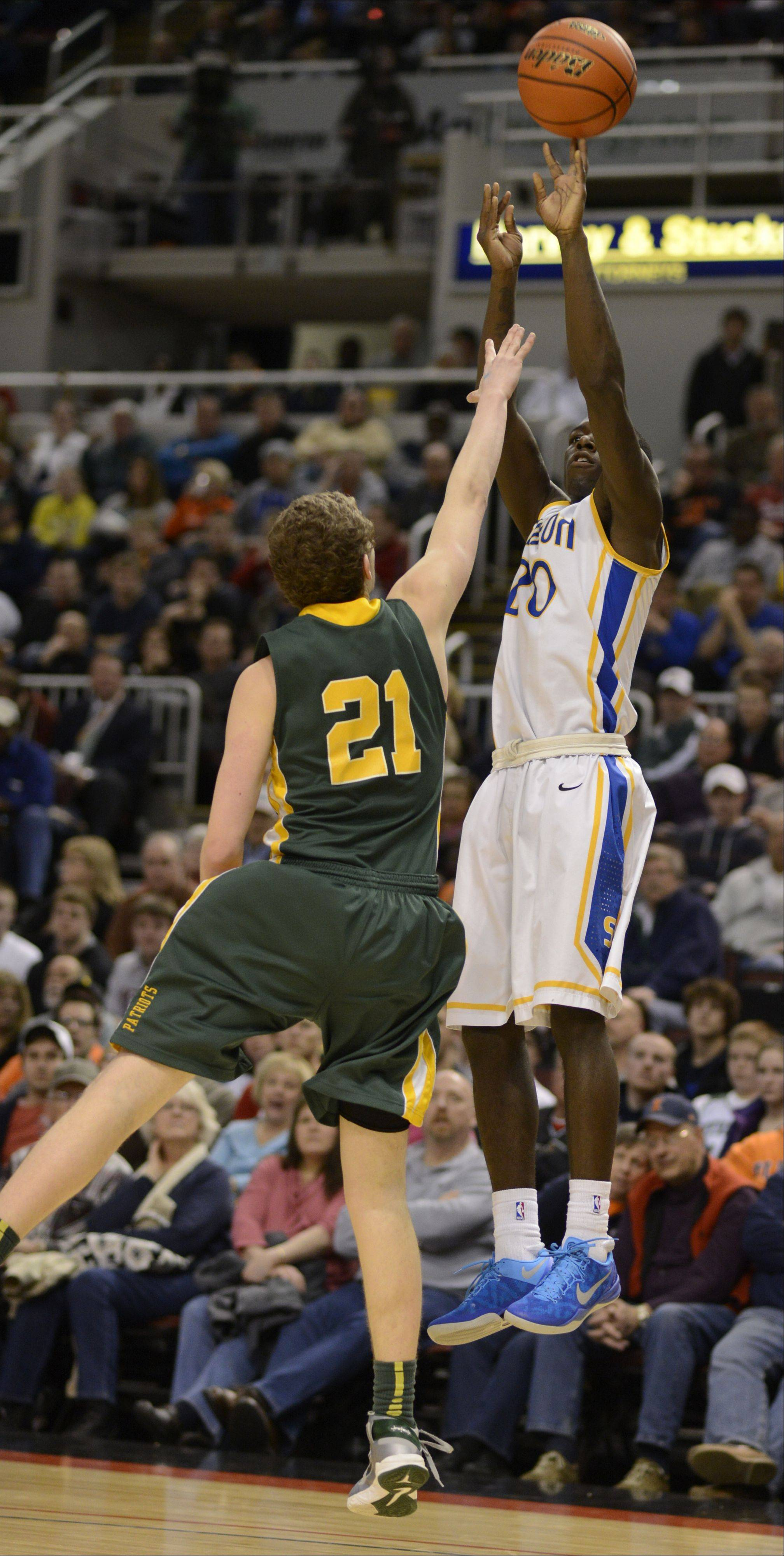 Images from the boys Class 4A state championship game between Stevenson and Simeon Saturday, March 16, 2013 in Peoria.
