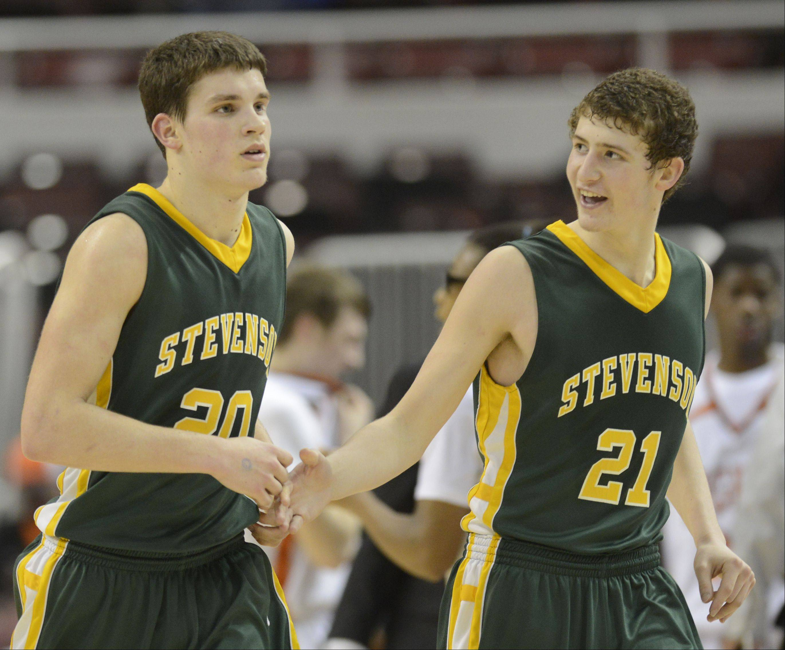 Images from the Stevenson vs. Edwardsville Class 4A state semifinal boys basketball game on Friday, March 15 at Carver Arena in Peoria.