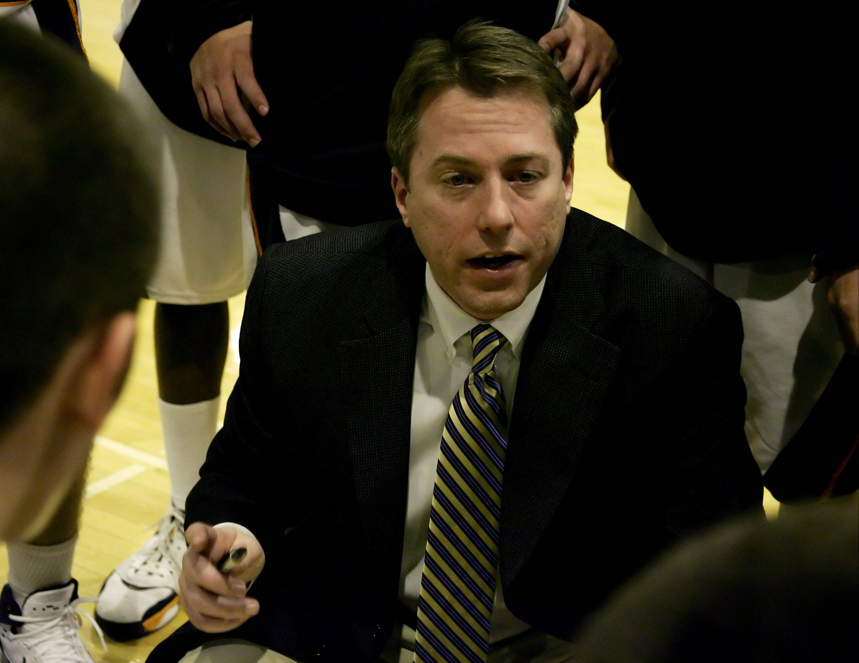 Ryan O'Connor, show here coaching in the 2007-08 season, is stepping down as Buffalo Grove's varsity boys basketball coach after a 13-year run.