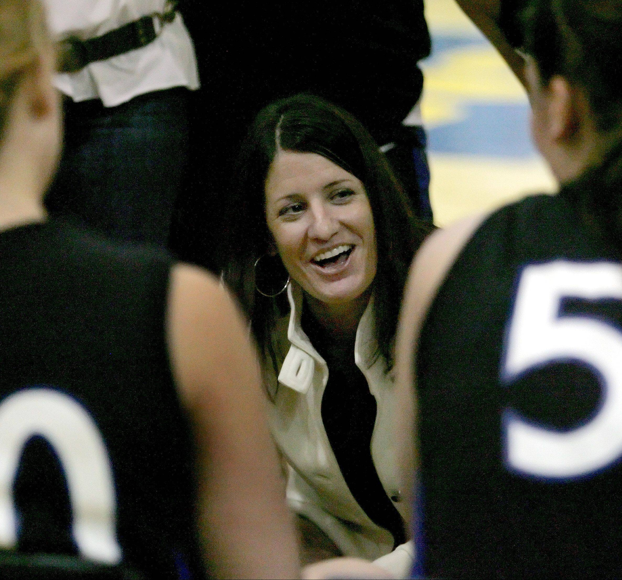 Colleen Backer said stepping down as St. Charles North girls basketball coach was an