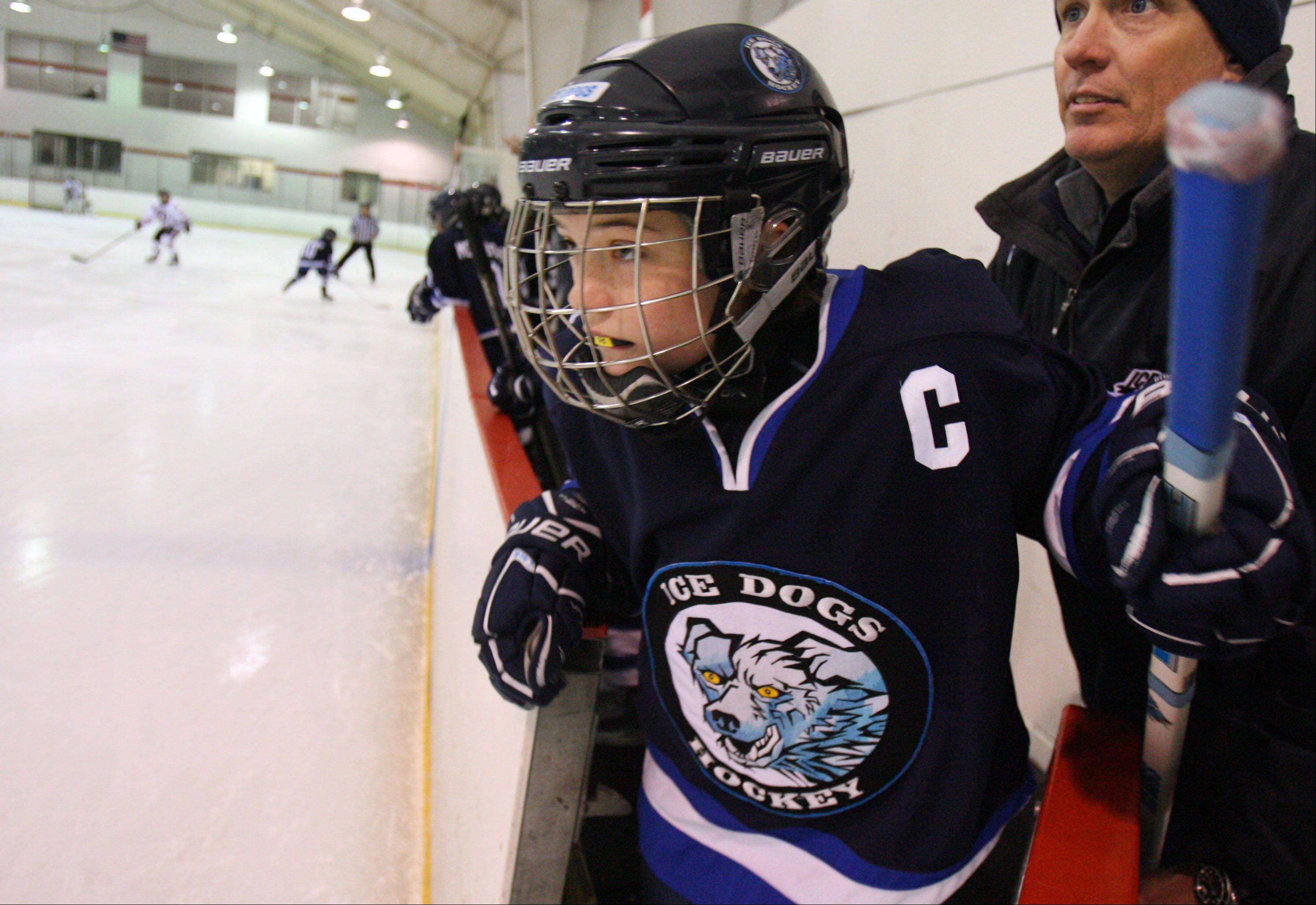 Moving Picture: Hockey team captain holds her own