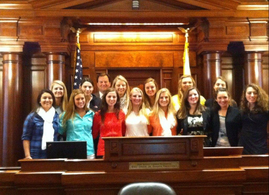 The Rolling Meadows girls basketball team recently made a trip to the state capitol building and was recognized for its outstanding season.