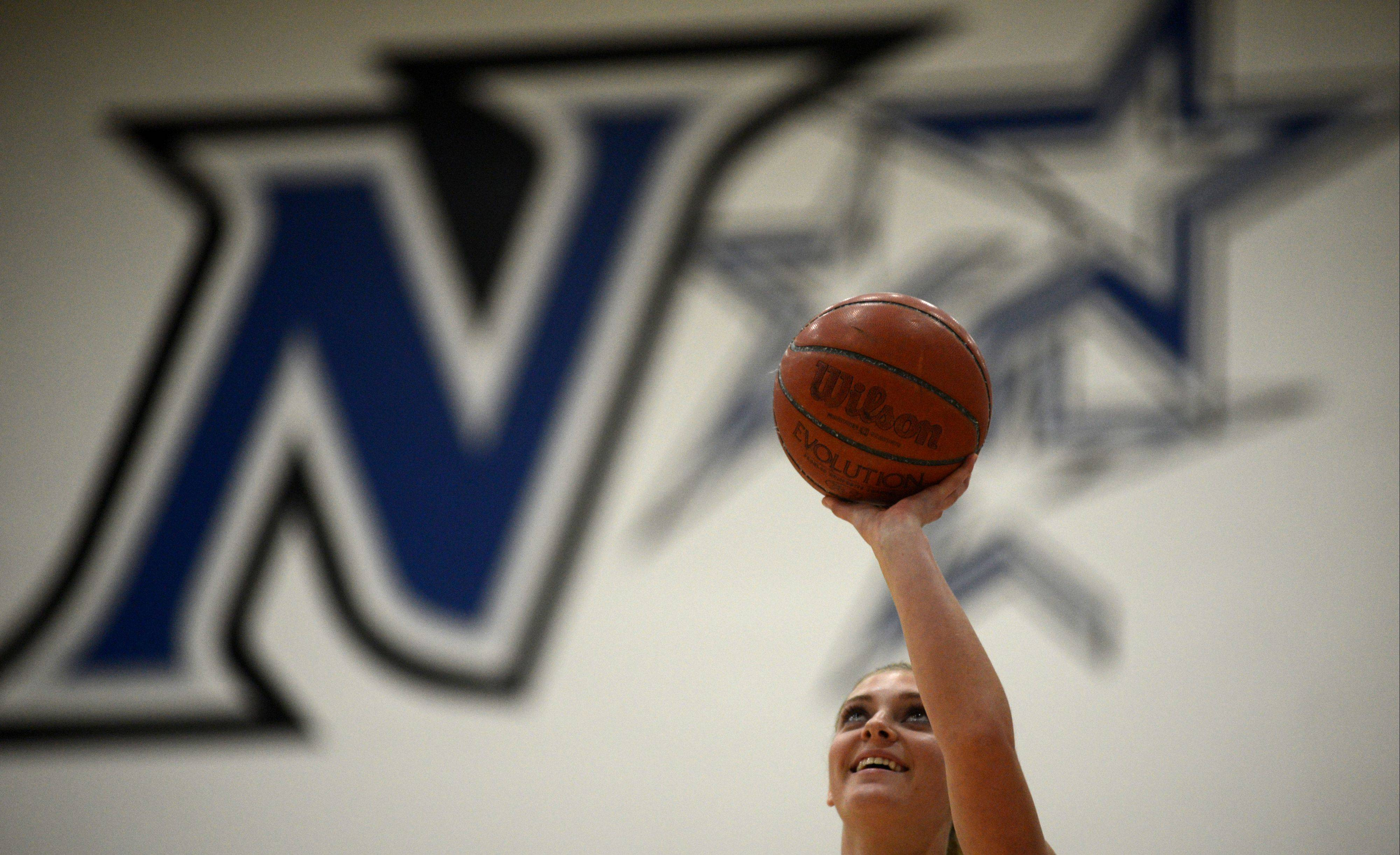 Senior Abby MacKay Zacker goes in for a layup Monday.