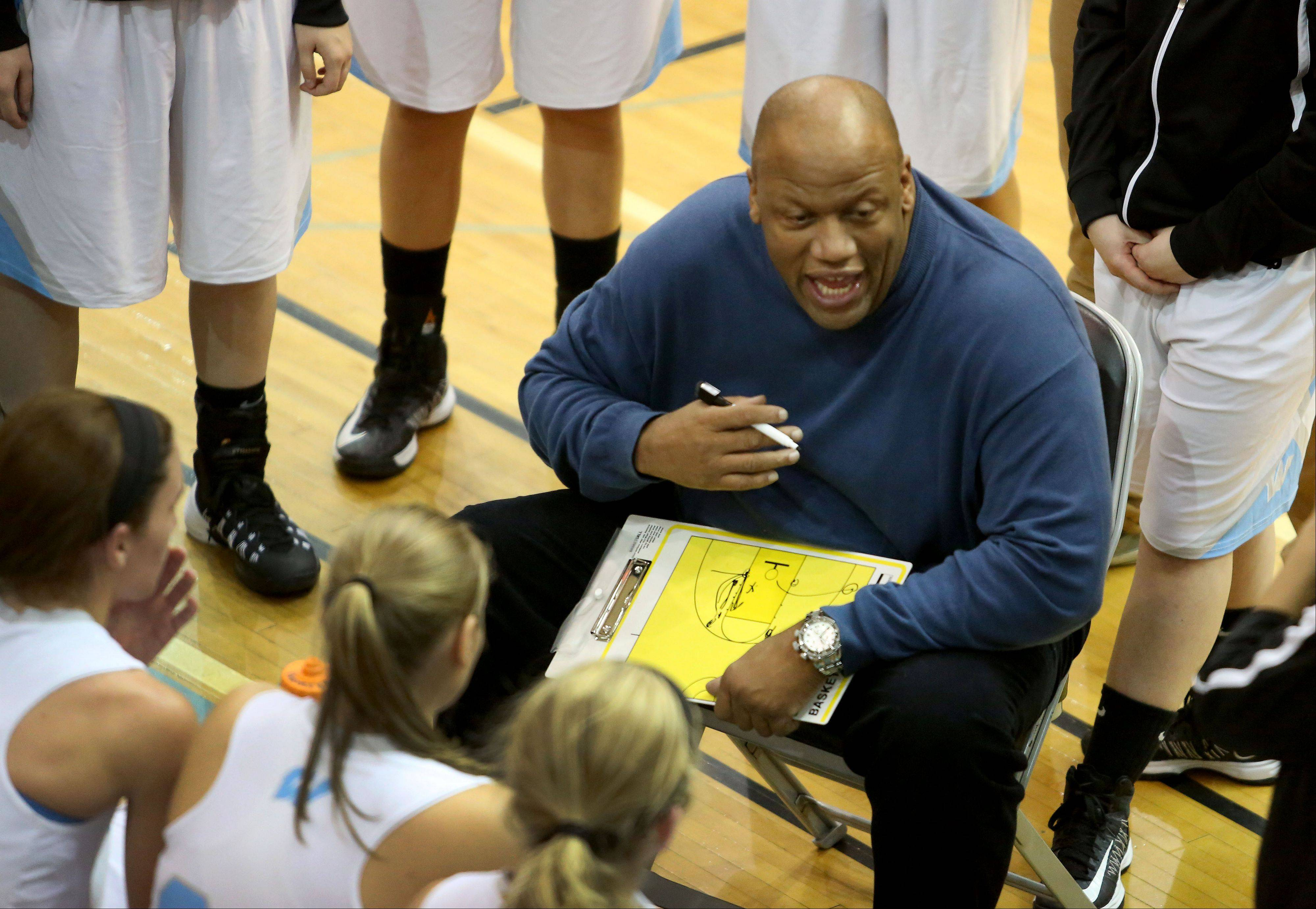 Willowbrook girls basketball head coachTerry Harrell.