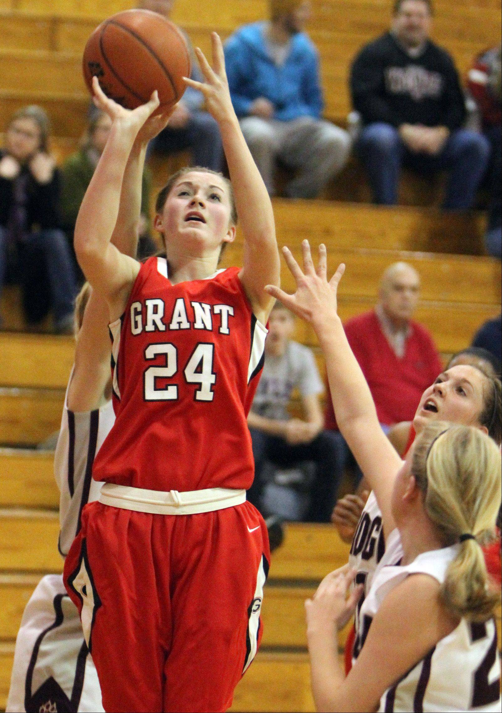 Kaylie Kanzler is playing her fourth season on varsity for Grant.