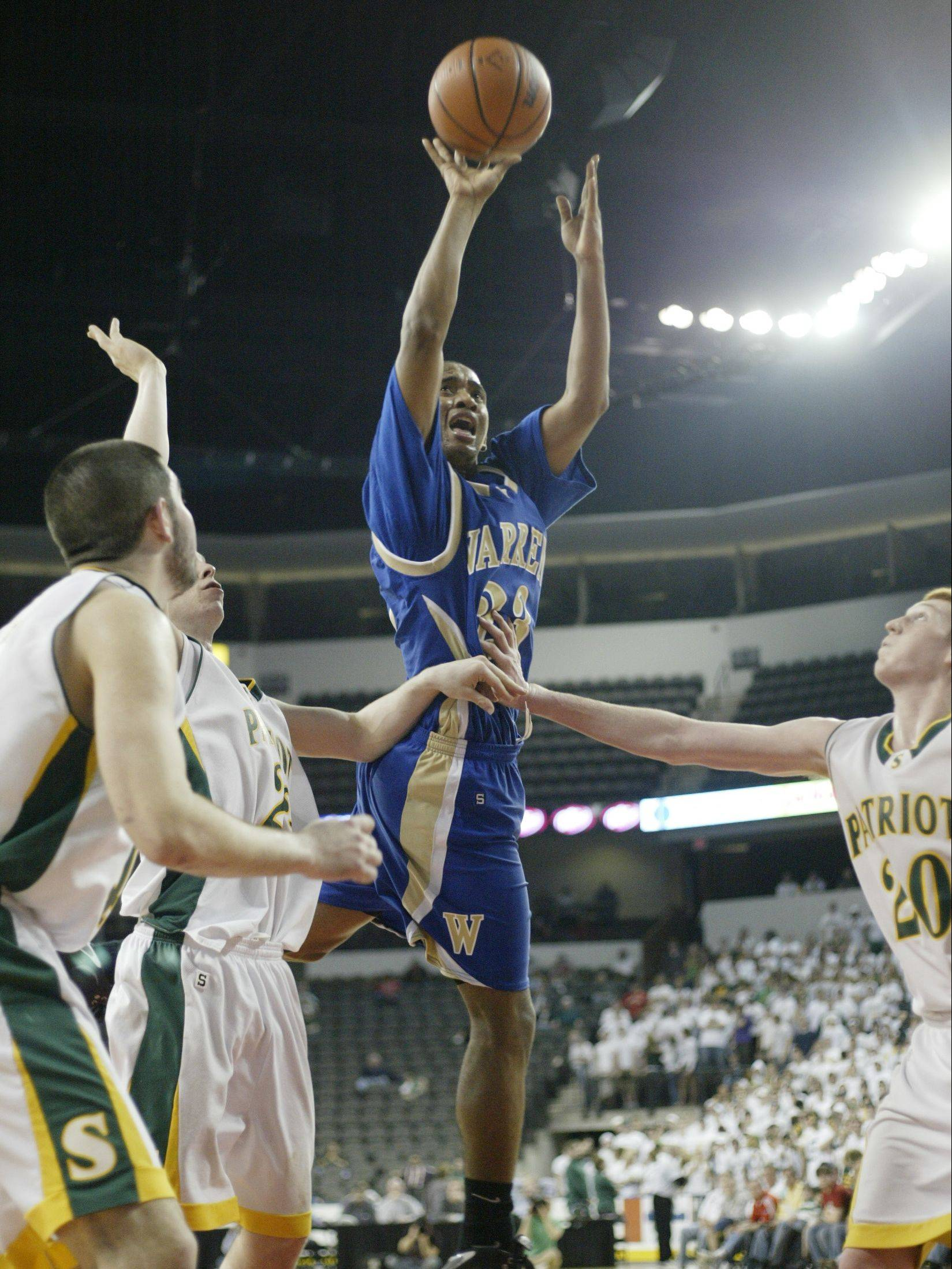 Ceola Clark gets to the basket for Warren in the 2007 supersectional at the Sears Center in Hoffman Estates.
