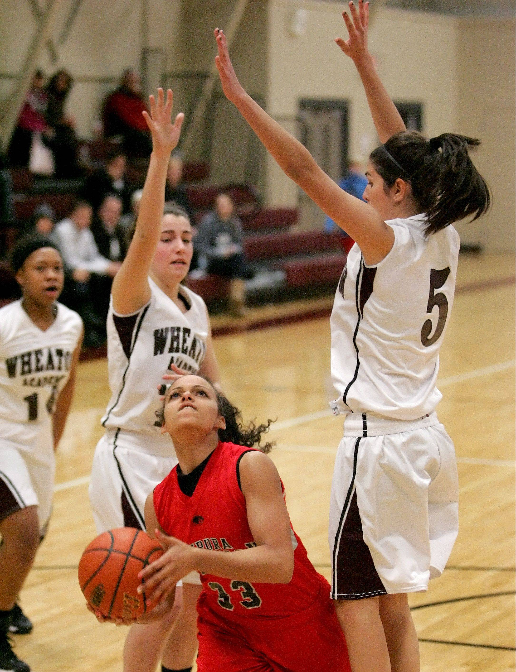 Alyssa Andersen averaged over 16 points a game as a junior for Aurora Christian last year.