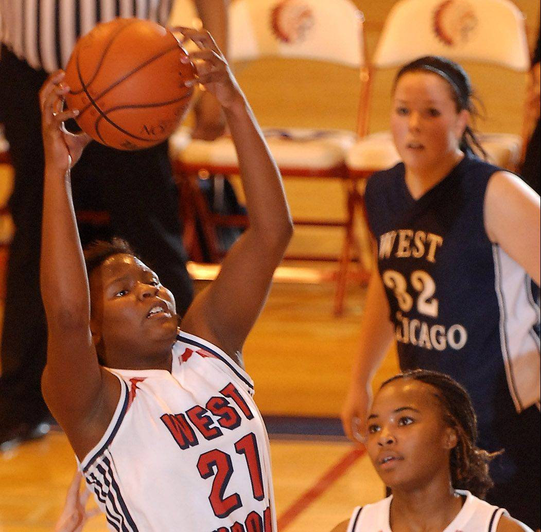 This is something Liz Skaggs has done numerous times the last three years at West Aurora � pulling down a rebound.