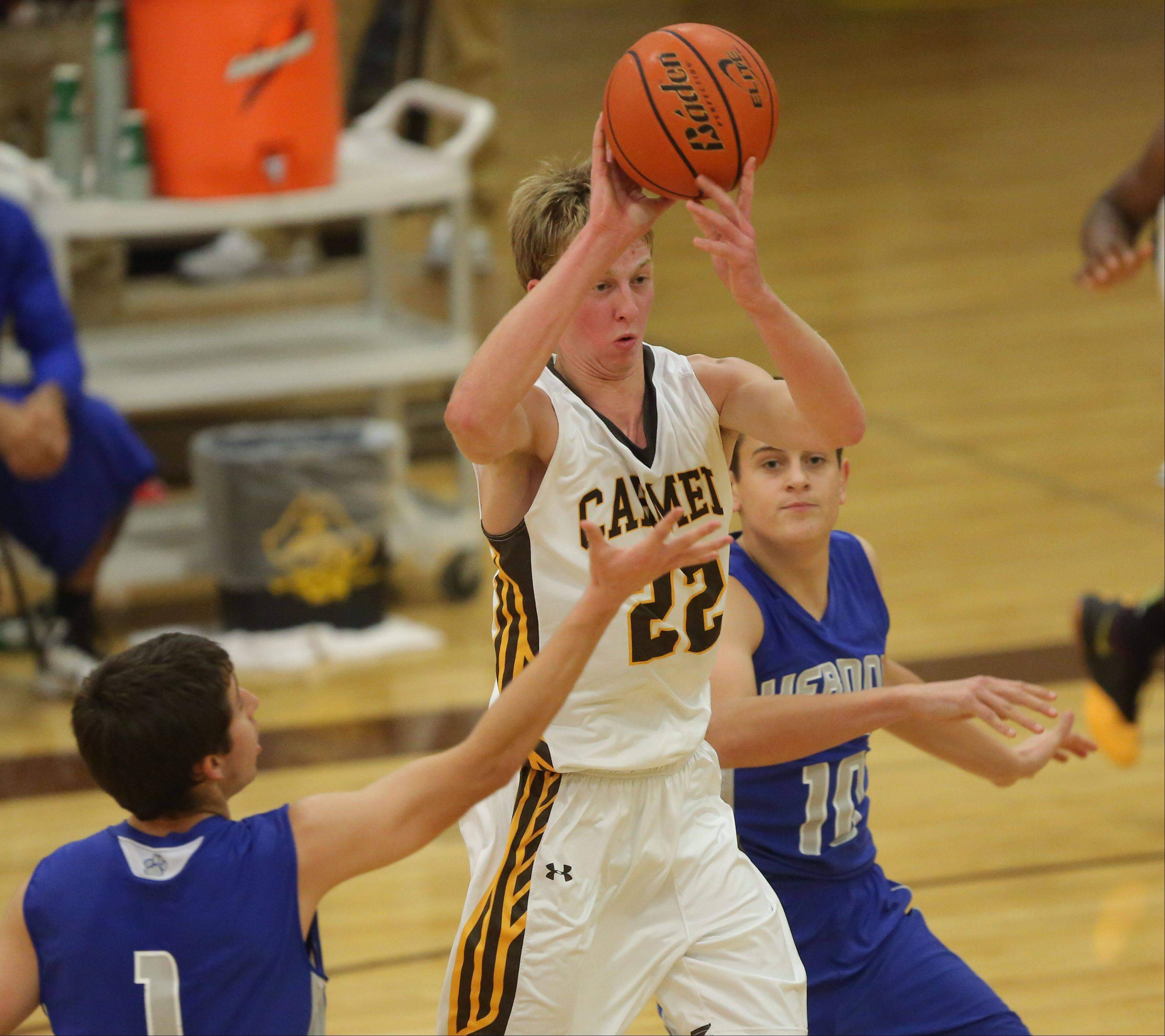 Images from the Vernon Hills vs. Carmel boys basketball game on Wednesday, Dec. 4 in Mundelein.