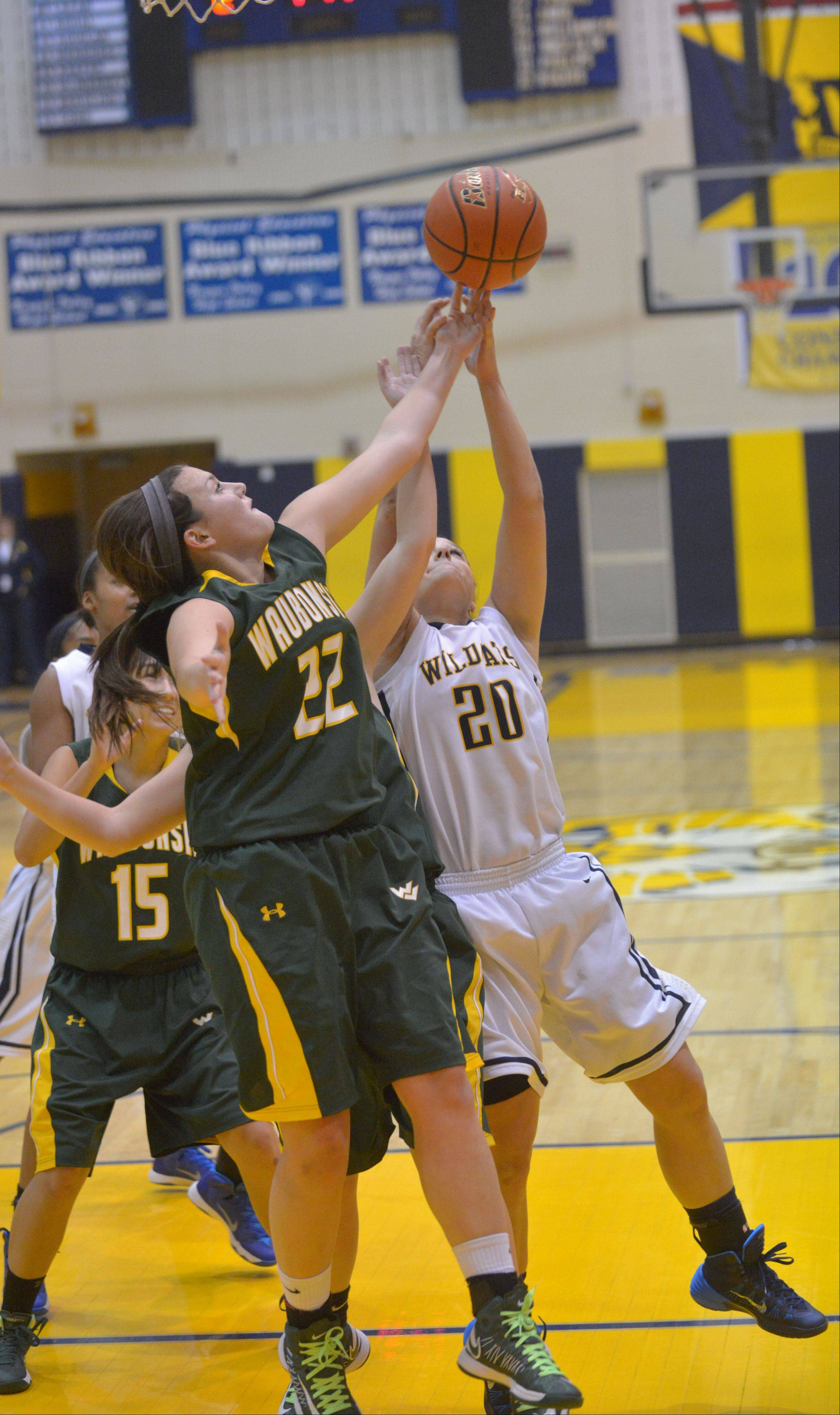Images from the Neuqua Valley vs. Waubonsie Valley girls basketball game on Saturday, Dec. 7.