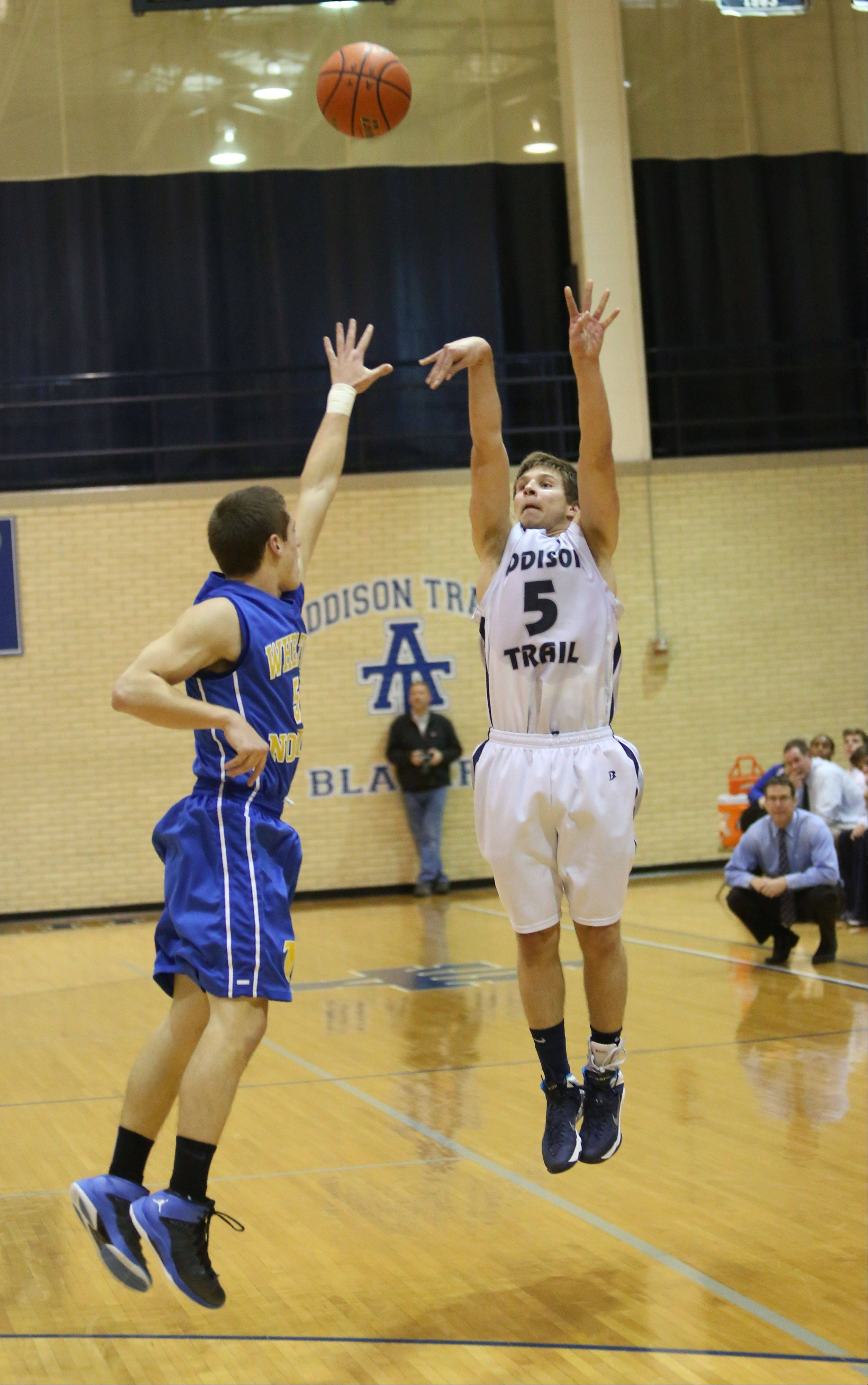 Photos from the Wheaton North at Addison Trail boys basketball game on Monday, Dec. 9.
