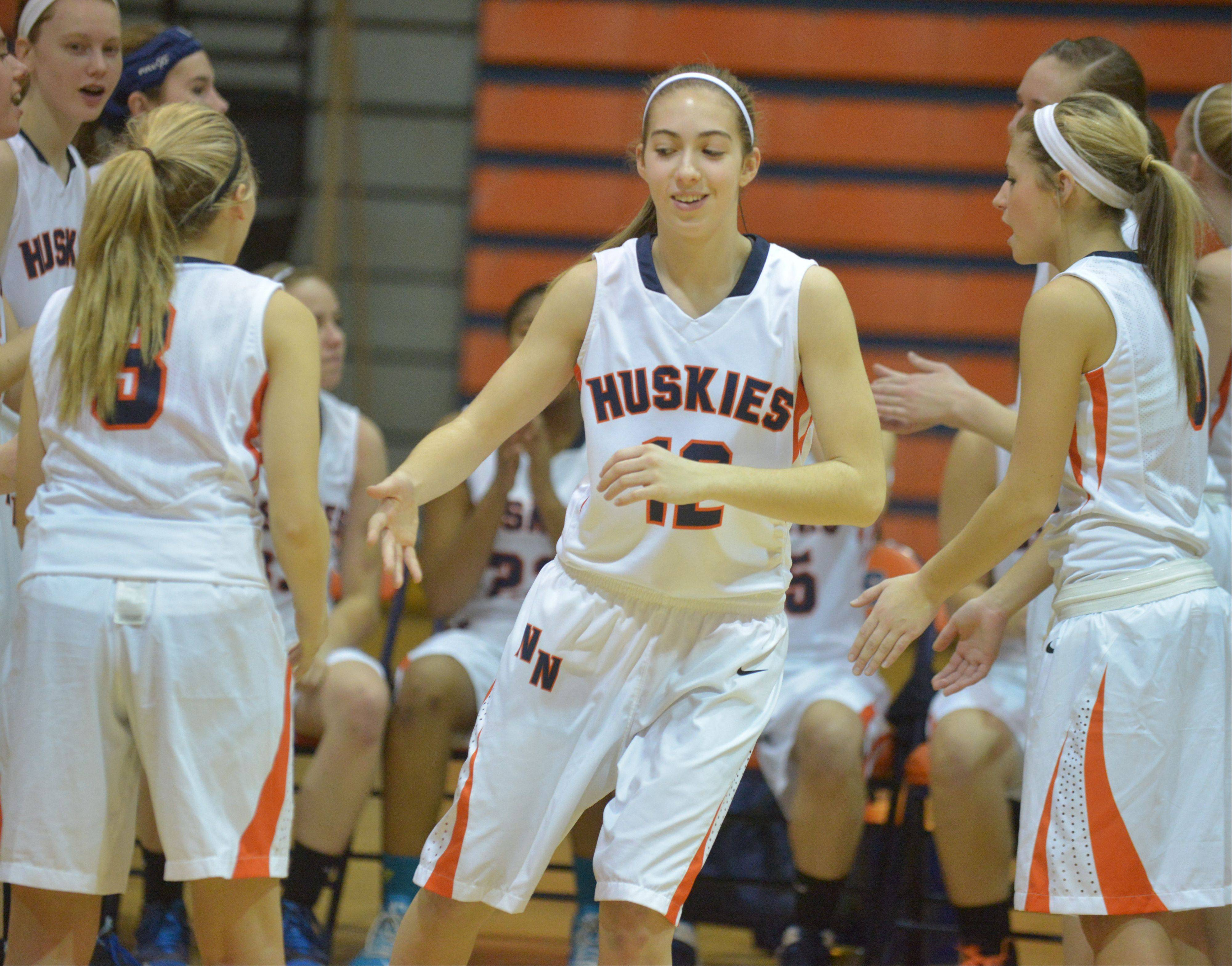Photos from the Wheaton Warrenville South at Naperville North girls basketball game Tuesday, Dec. 10.