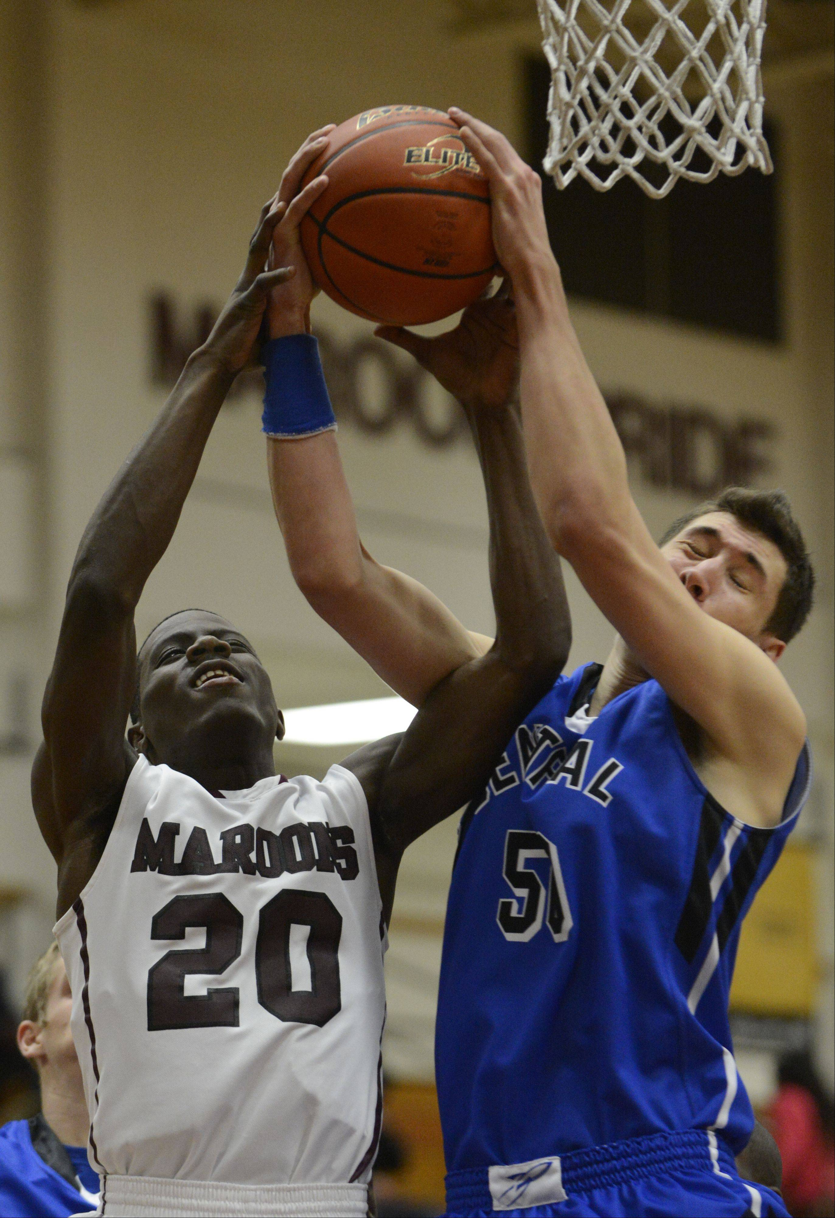 Images from the Burlington Central vs. Elgin boys basketball game Tuesday, December 10, 2013.