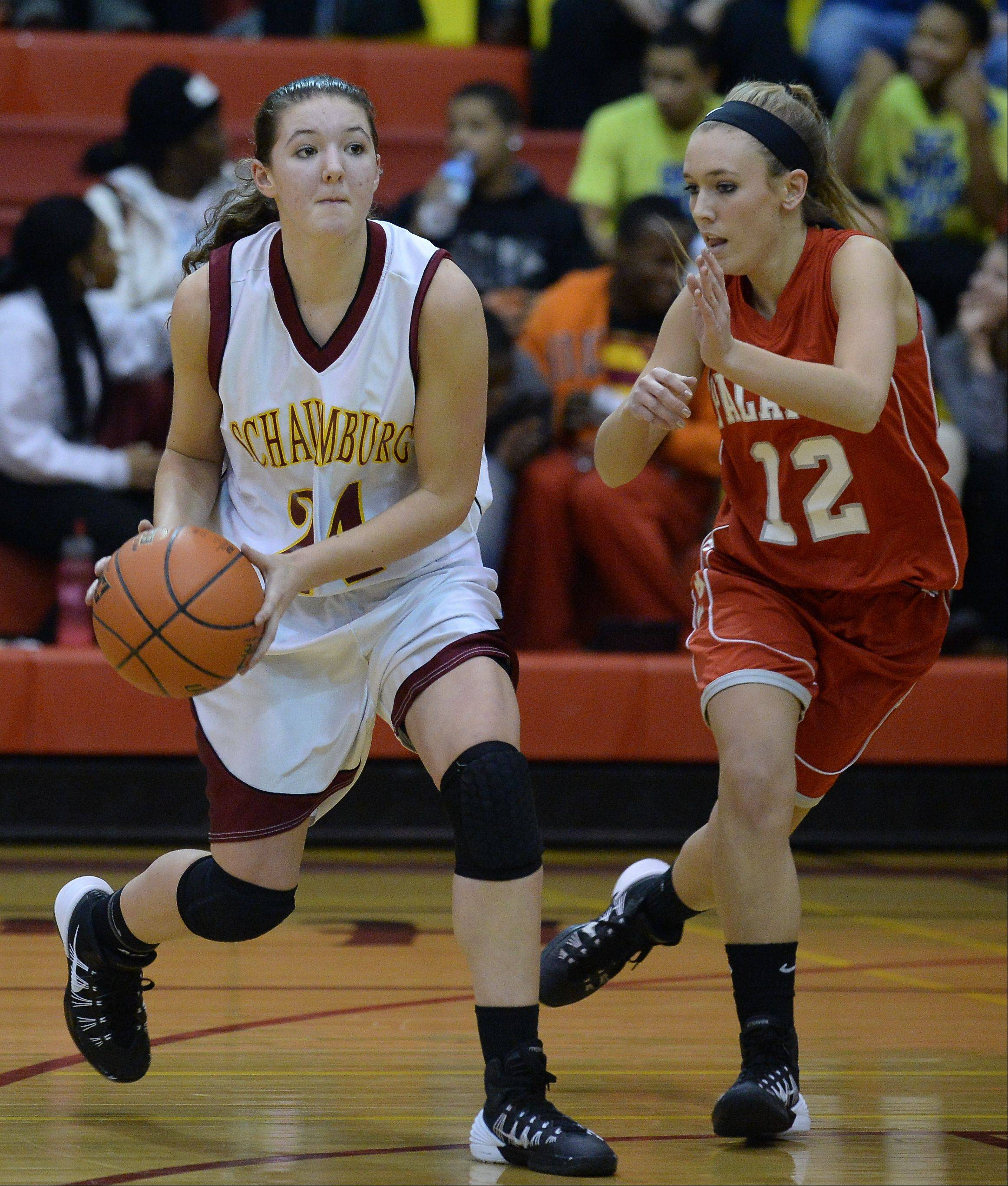 Photos from the Schaumburg vs. Palatine girls basketball game on Friday, December 13th in Schaumburg.