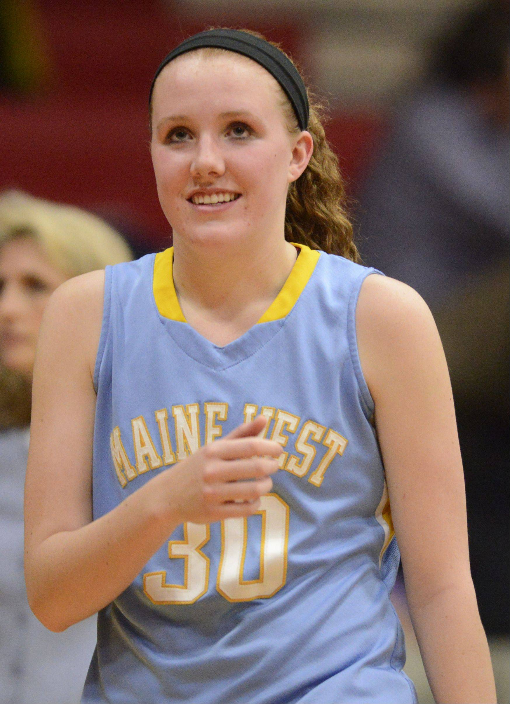 Collins nets Maine West career scoring record
