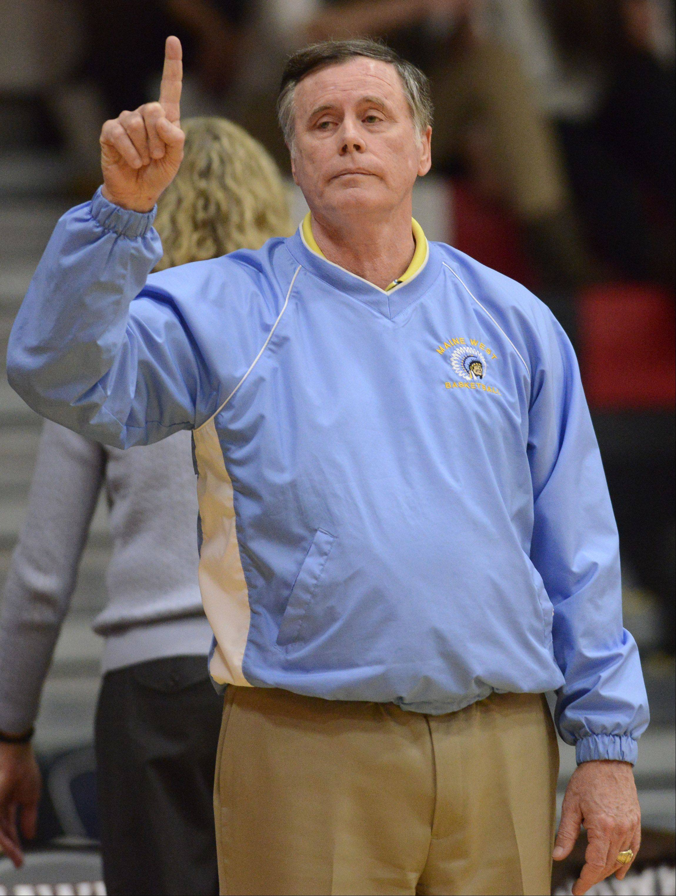 Maine West girls basketball coach Derril Kipp.