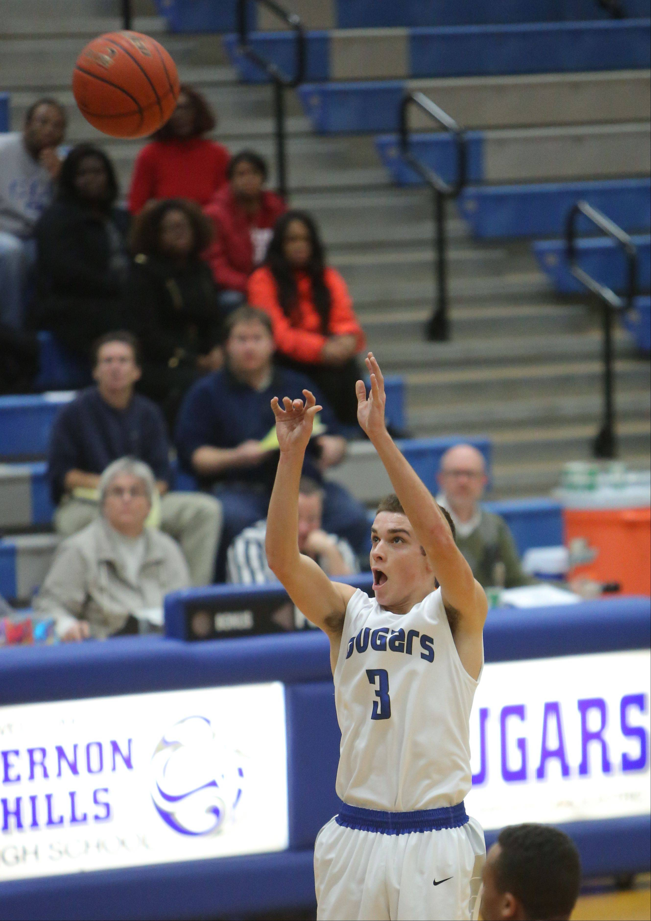 Images from the North Chicago vs. Vernon Hills boys basketball game on Tuesday, Dec. 17.