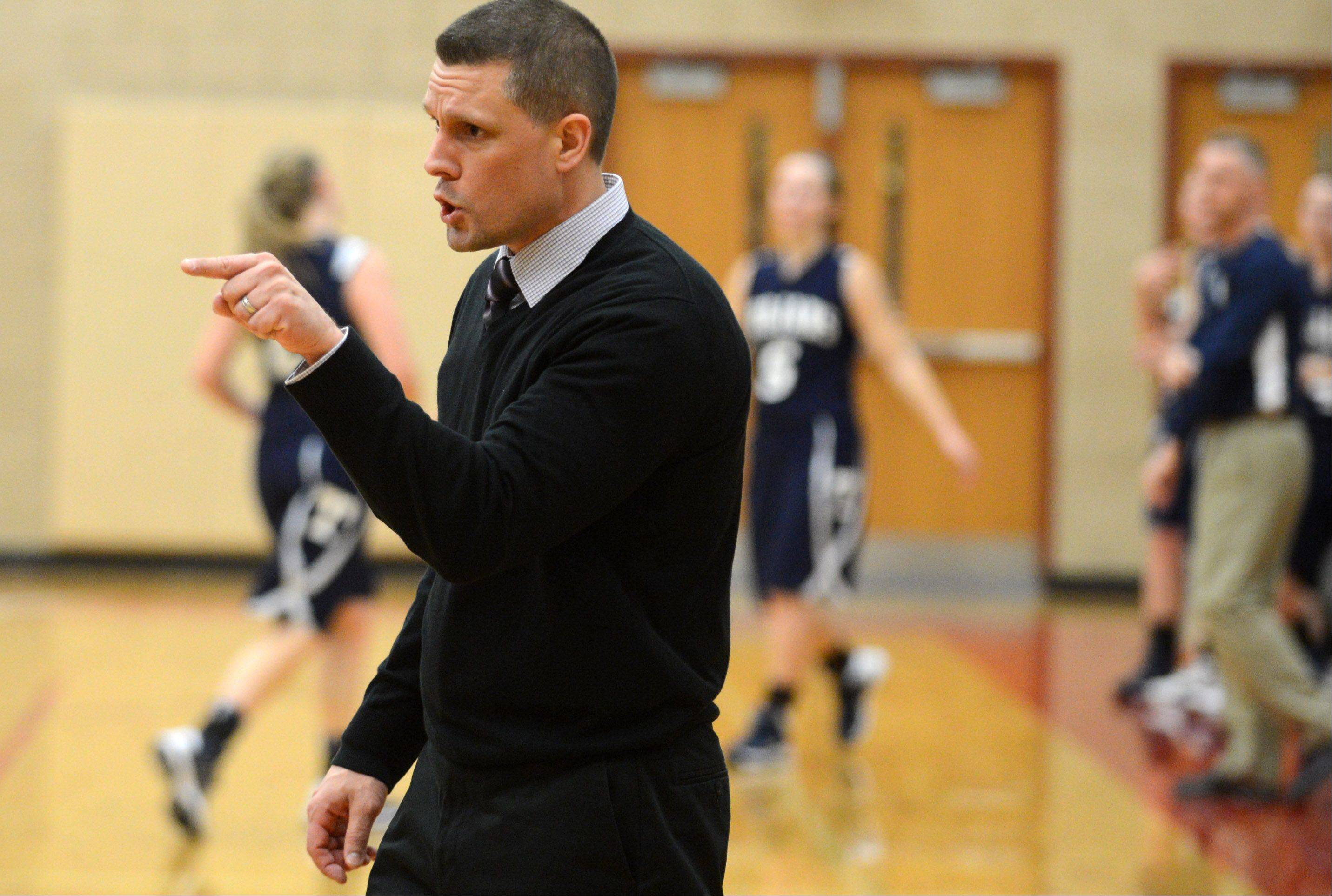 Huntley girls basketball coach Steve Raethz will lead his team against Geneva on Monday in the first round of the Montini Christmas tournament. I