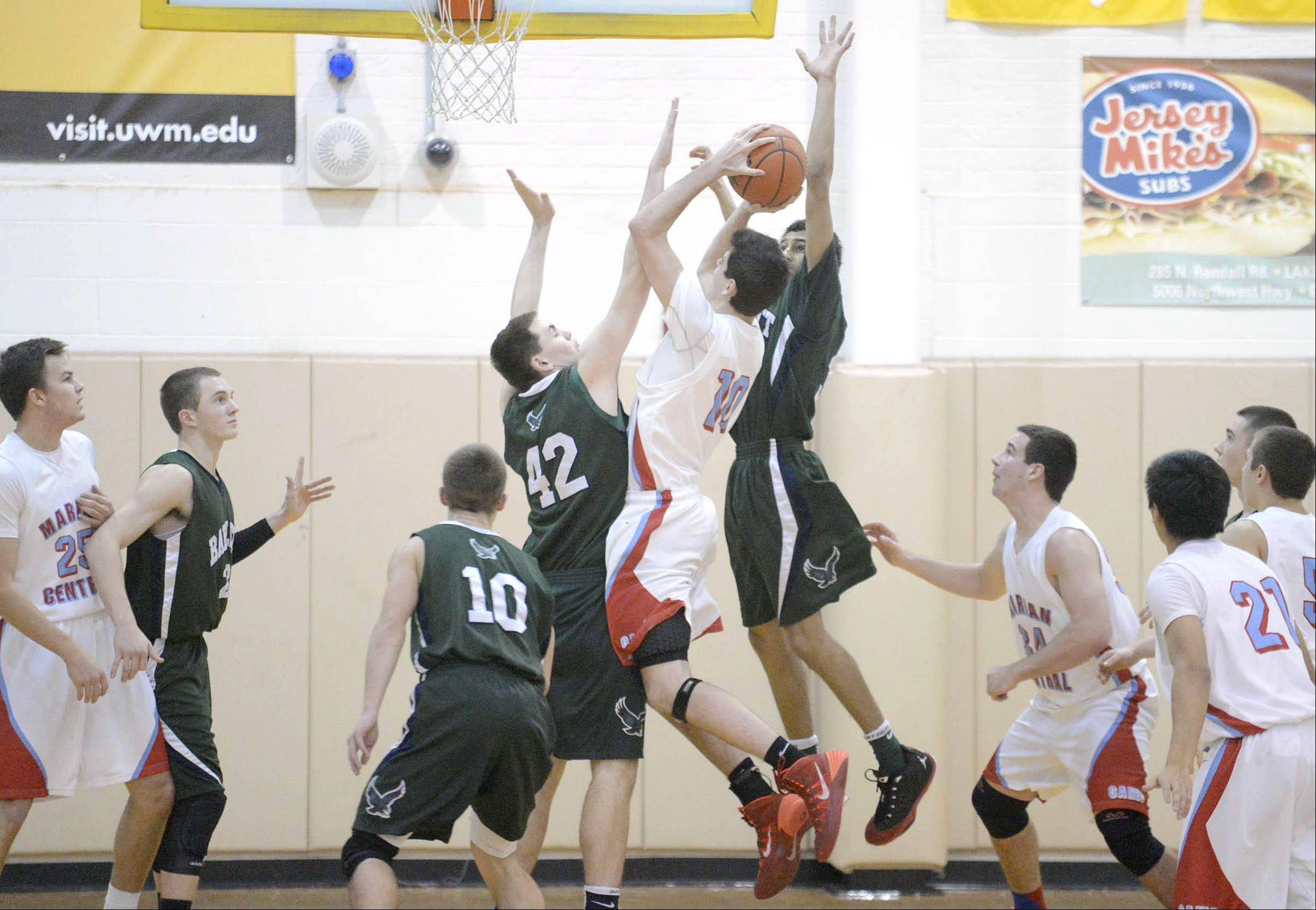 Images from the Bartlett vs. Marian Central Catholic boys basketball game Saturday, December 21, in Algonquin.