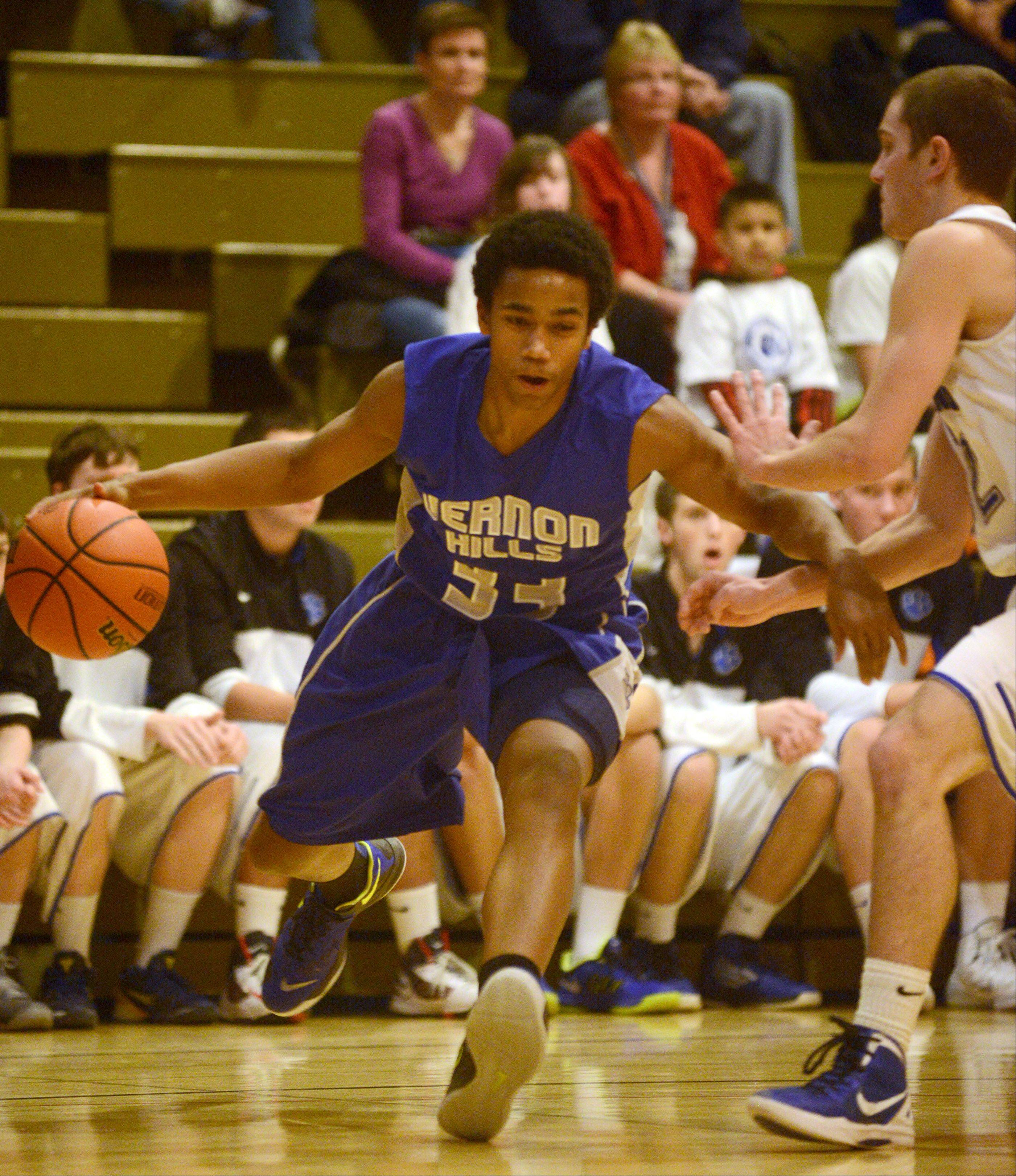 Wheeling vs. Vernon Hills at the Wheeling Hardwood Classic boys basketball tournament on Monday, Dec. 23.